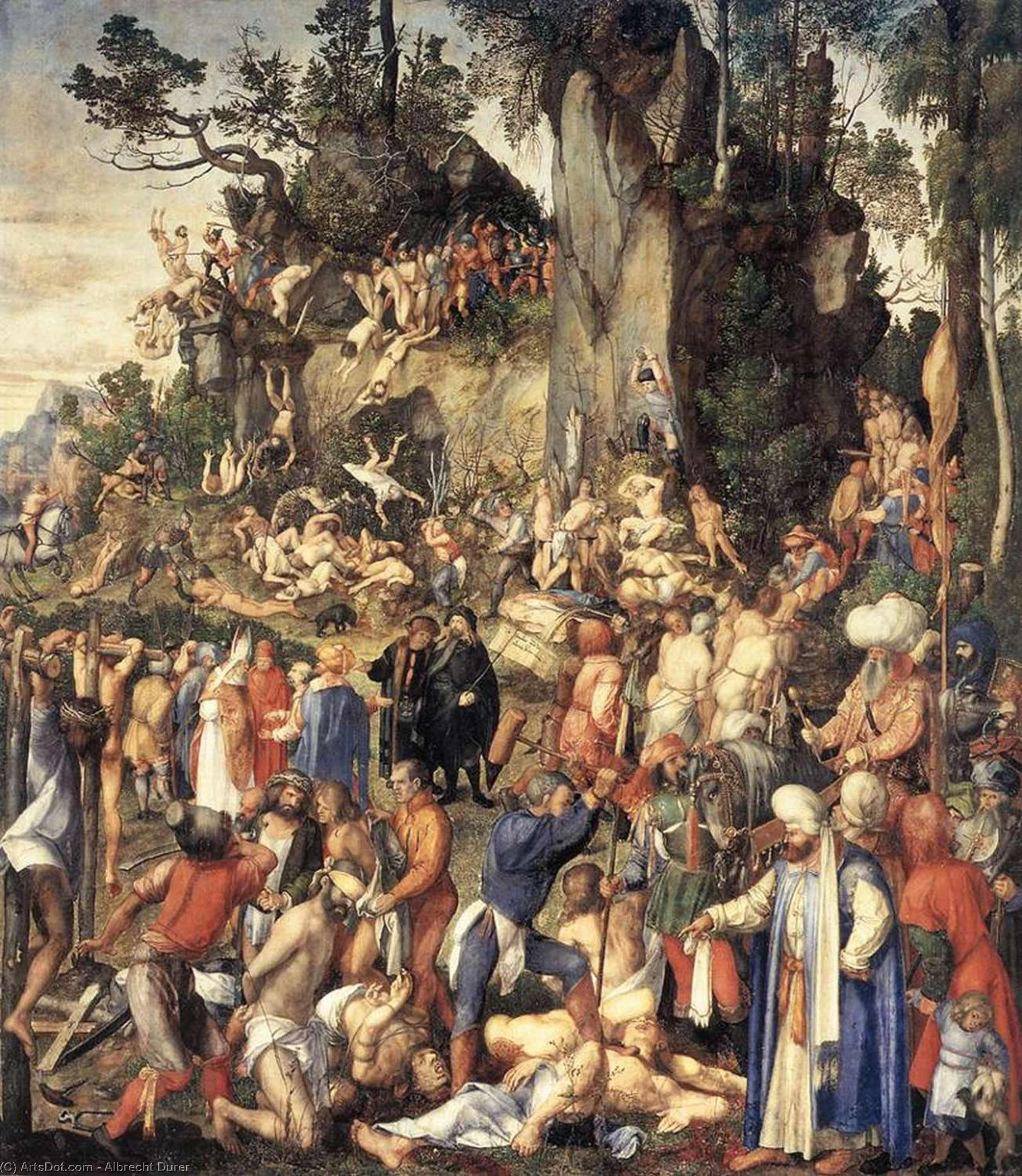 Wikioo.org - The Encyclopedia of Fine Arts - Painting, Artwork by Albrecht Durer - The Martyrdom of the Ten Thousand