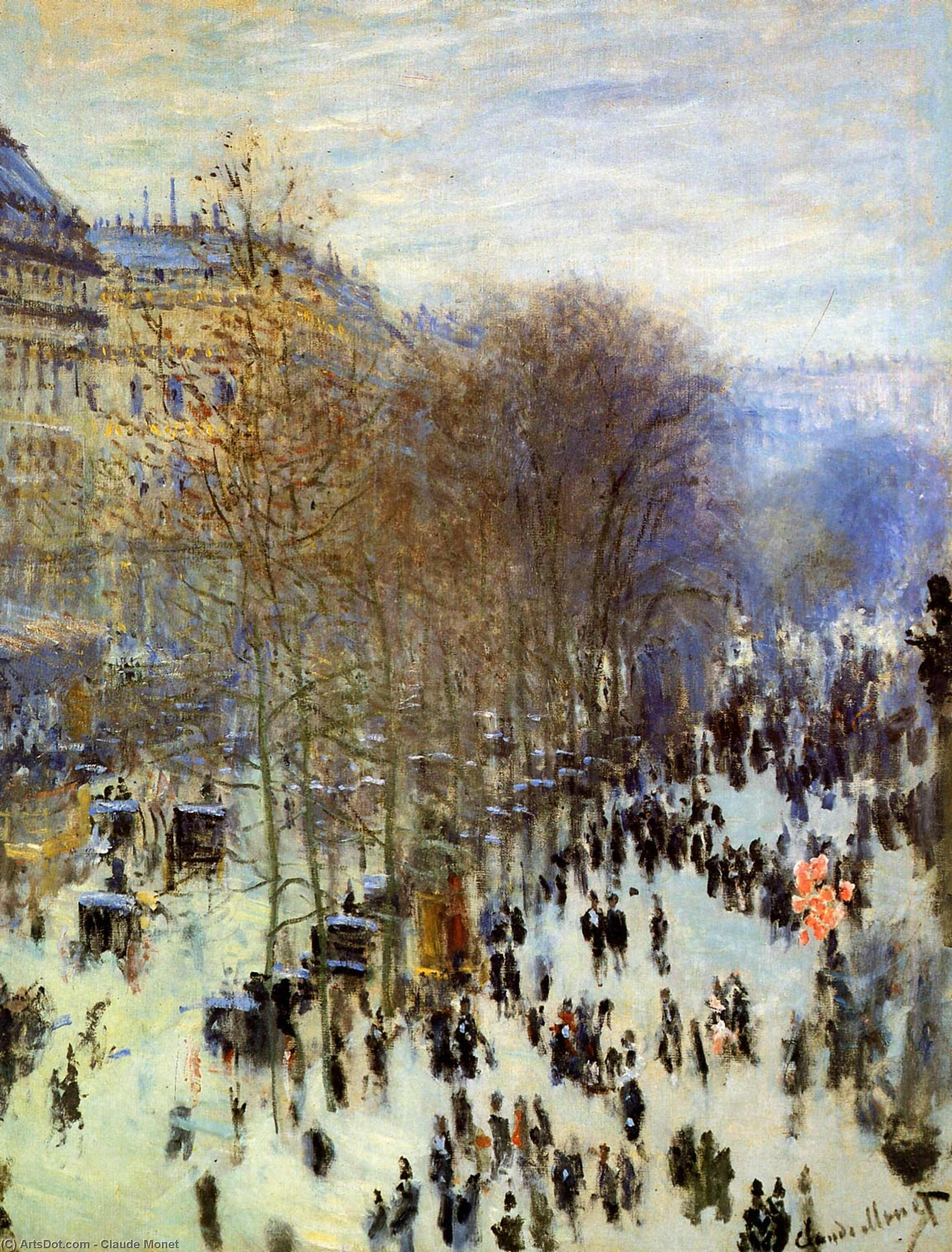 Wikioo.org - The Encyclopedia of Fine Arts - Painting, Artwork by Claude Monet - The Boulevard des Capucines