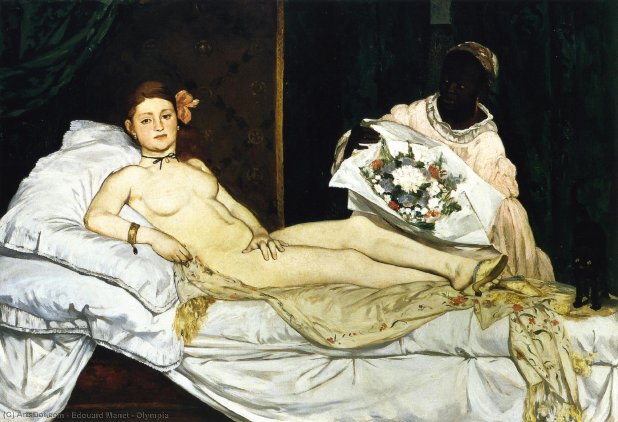 Wikioo.org - The Encyclopedia of Fine Arts - Painting, Artwork by Edouard Manet - Olympia