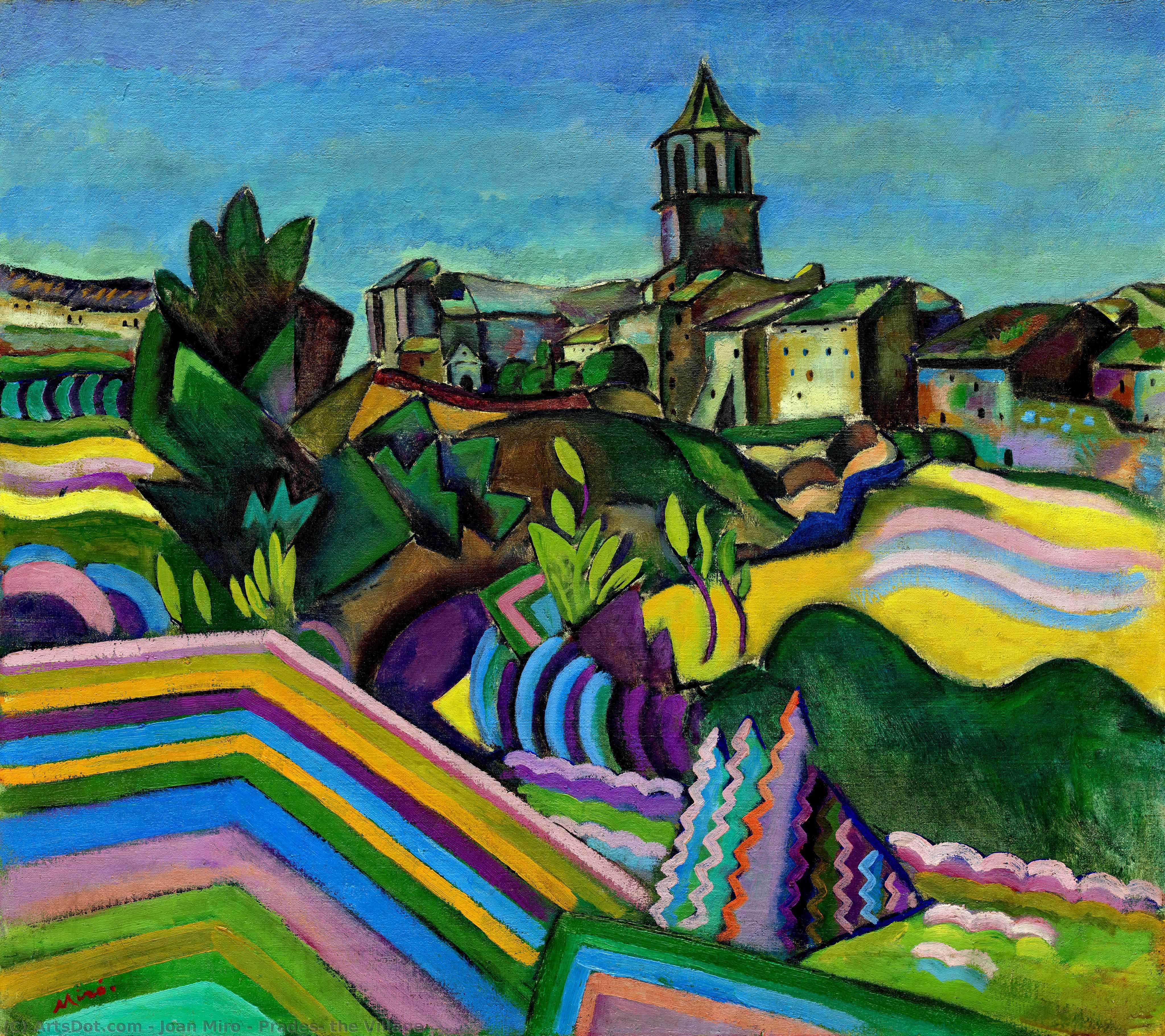 Wikioo.org – La Enciclopedia de las Bellas Artes - Pintura, Obras de arte de Joan Miro - Prades , la aldea