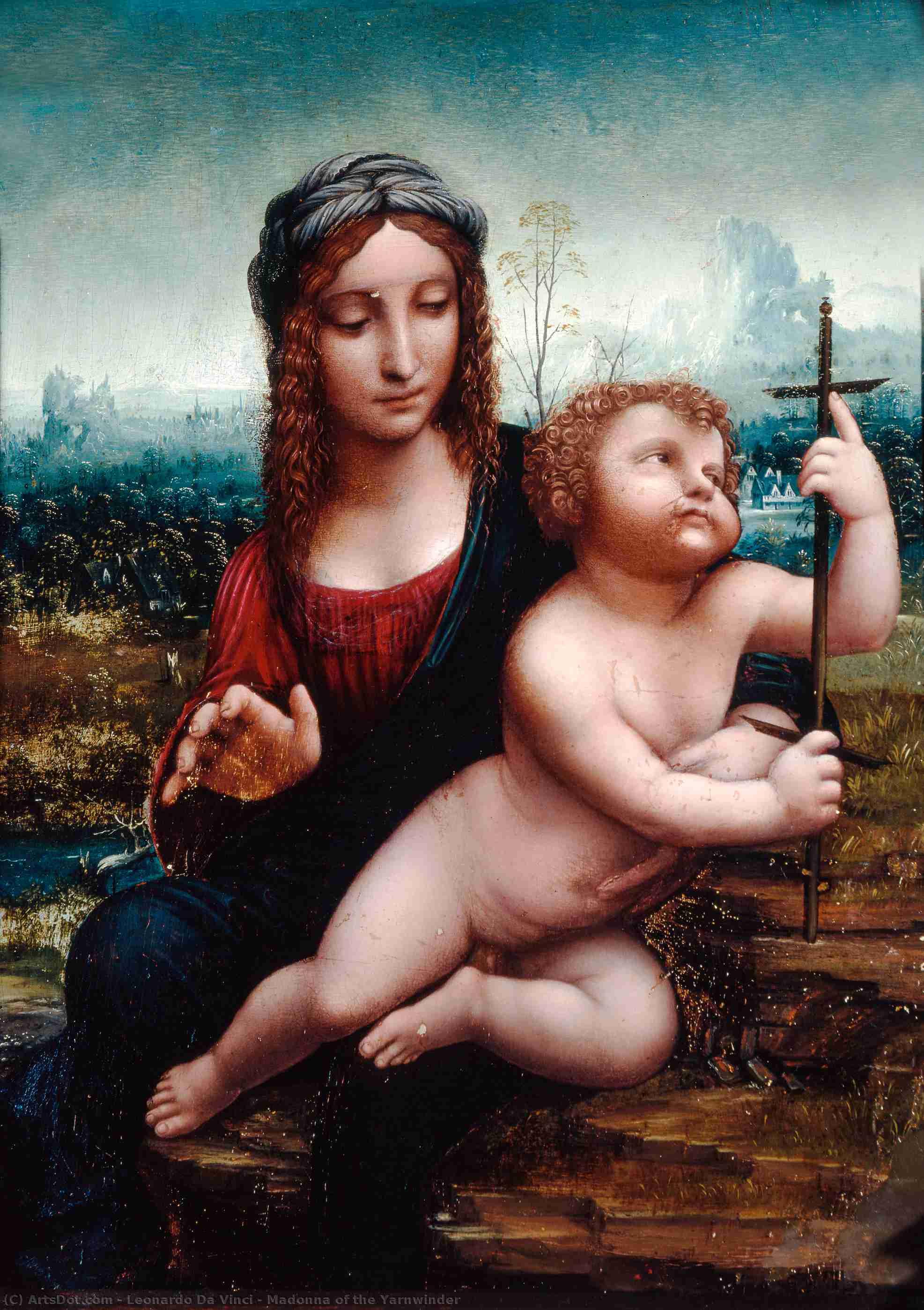 Wikioo.org - The Encyclopedia of Fine Arts - Painting, Artwork by Leonardo Da Vinci - Madonna of the Yarnwinder