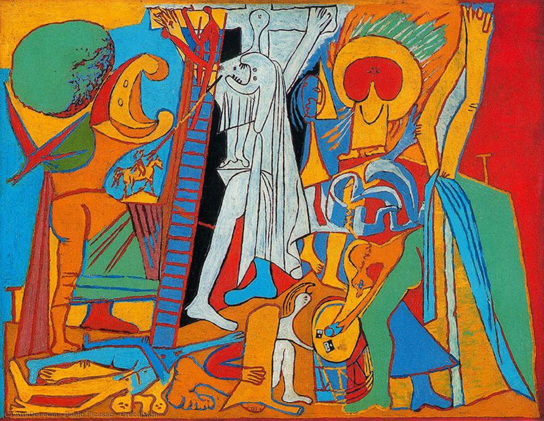 WikiOO.org - Güzel Sanatlar Ansiklopedisi - Resim, Resimler Pablo Picasso - Crucifixion