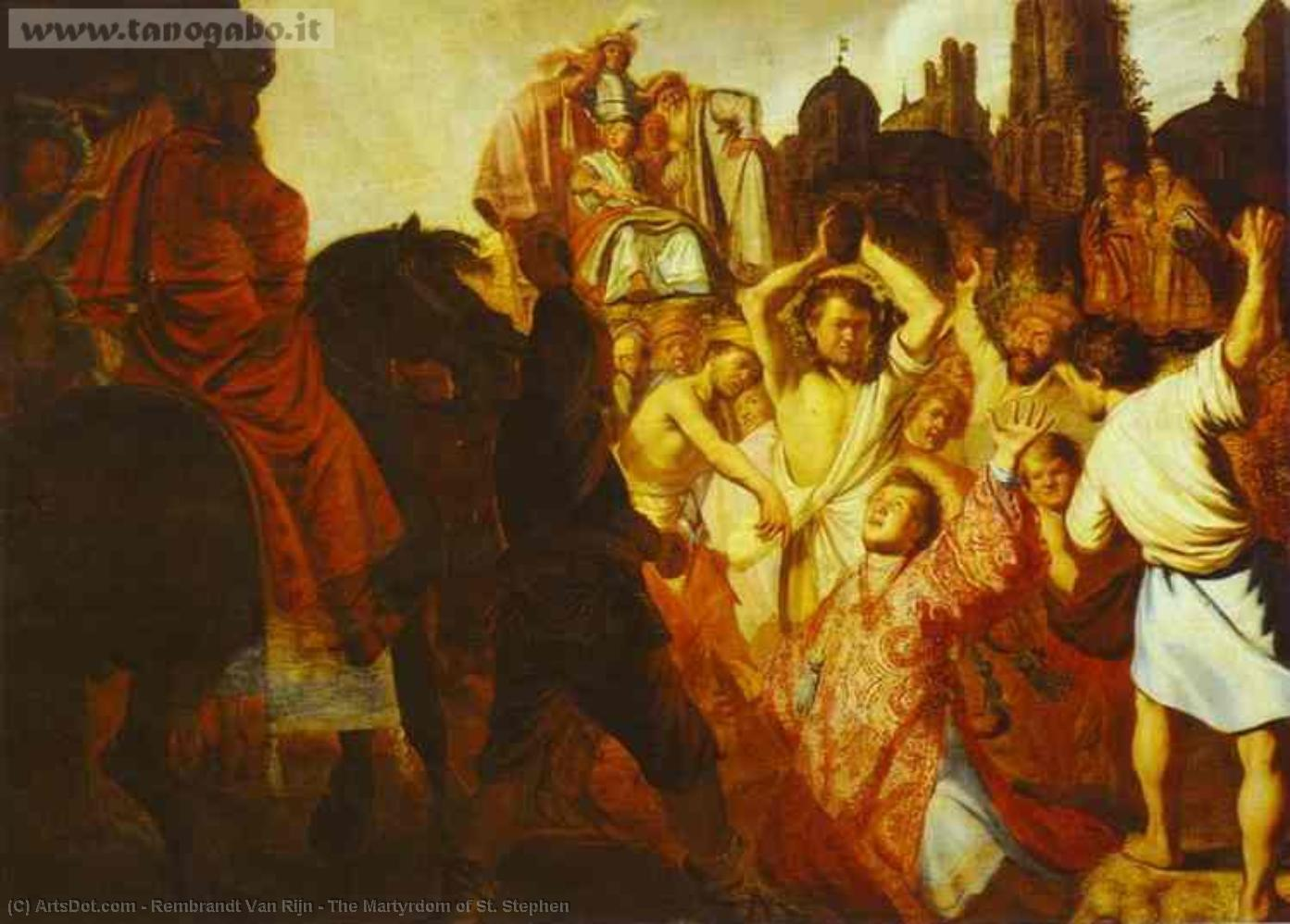 Wikioo.org - The Encyclopedia of Fine Arts - Painting, Artwork by Rembrandt Van Rijn - The Martyrdom of St. Stephen