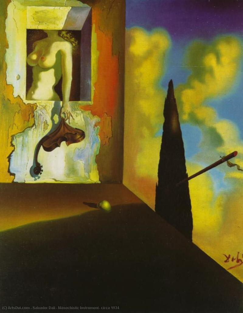 Wikioo.org - The Encyclopedia of Fine Arts - Painting, Artwork by Salvador Dali - Masochistic Instrument, circa 1934