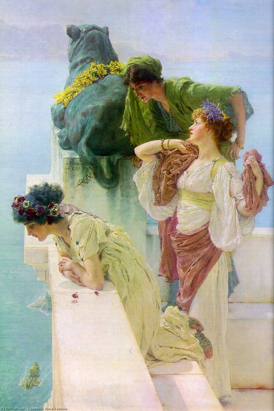 Wikioo.org - The Encyclopedia of Fine Arts - Painting, Artwork by Lawrence Alma-Tadema - A Coign of Vantage