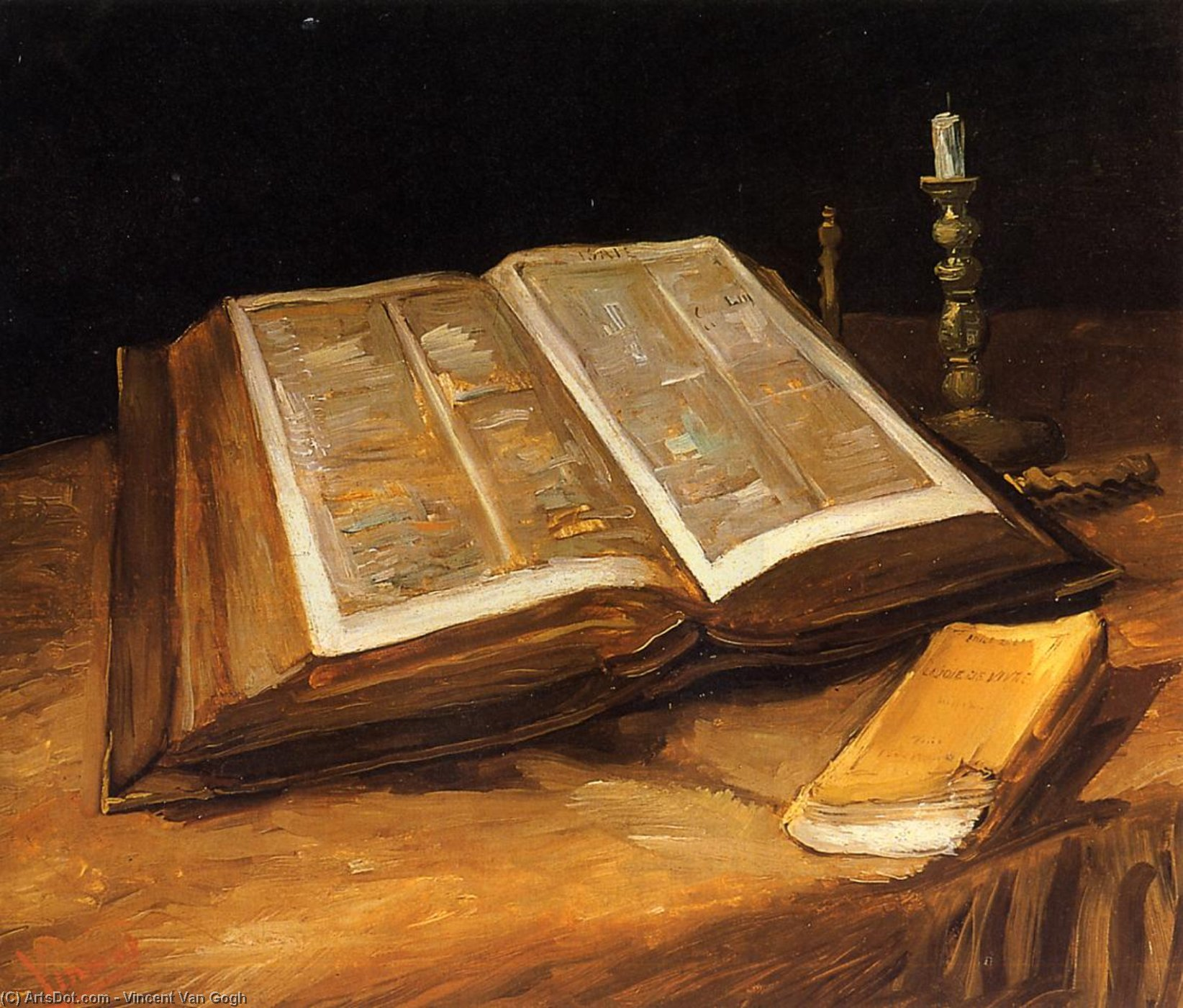 Wikioo.org - The Encyclopedia of Fine Arts - Painting, Artwork by Vincent Van Gogh - Still Life with Bible