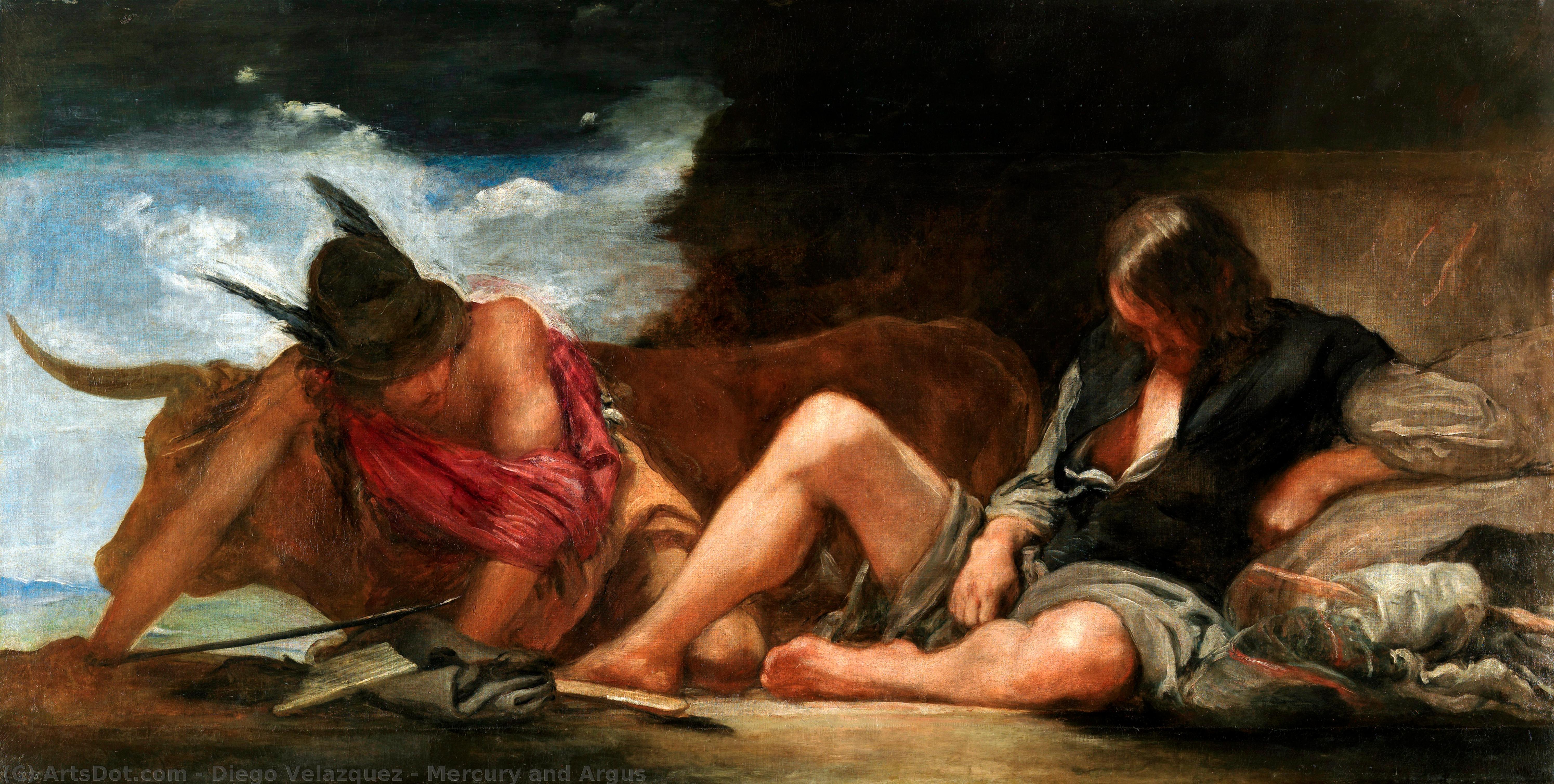 Wikioo.org - The Encyclopedia of Fine Arts - Painting, Artwork by Diego Velazquez - Mercury and Argus