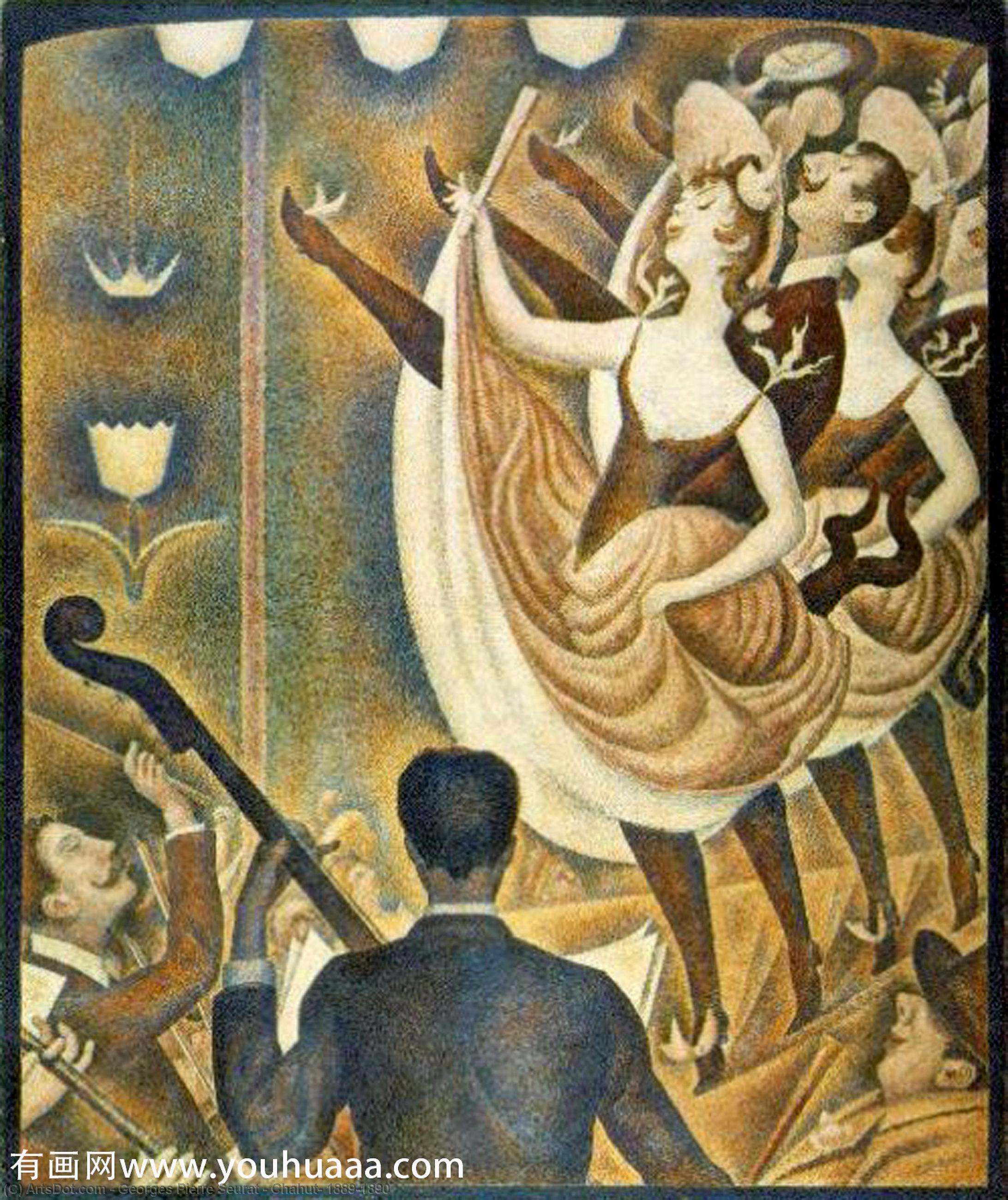 WikiOO.org - Энциклопедия изобразительного искусства - Живопись, Картины  Georges Pierre Seurat - Chahut , 1889-1890