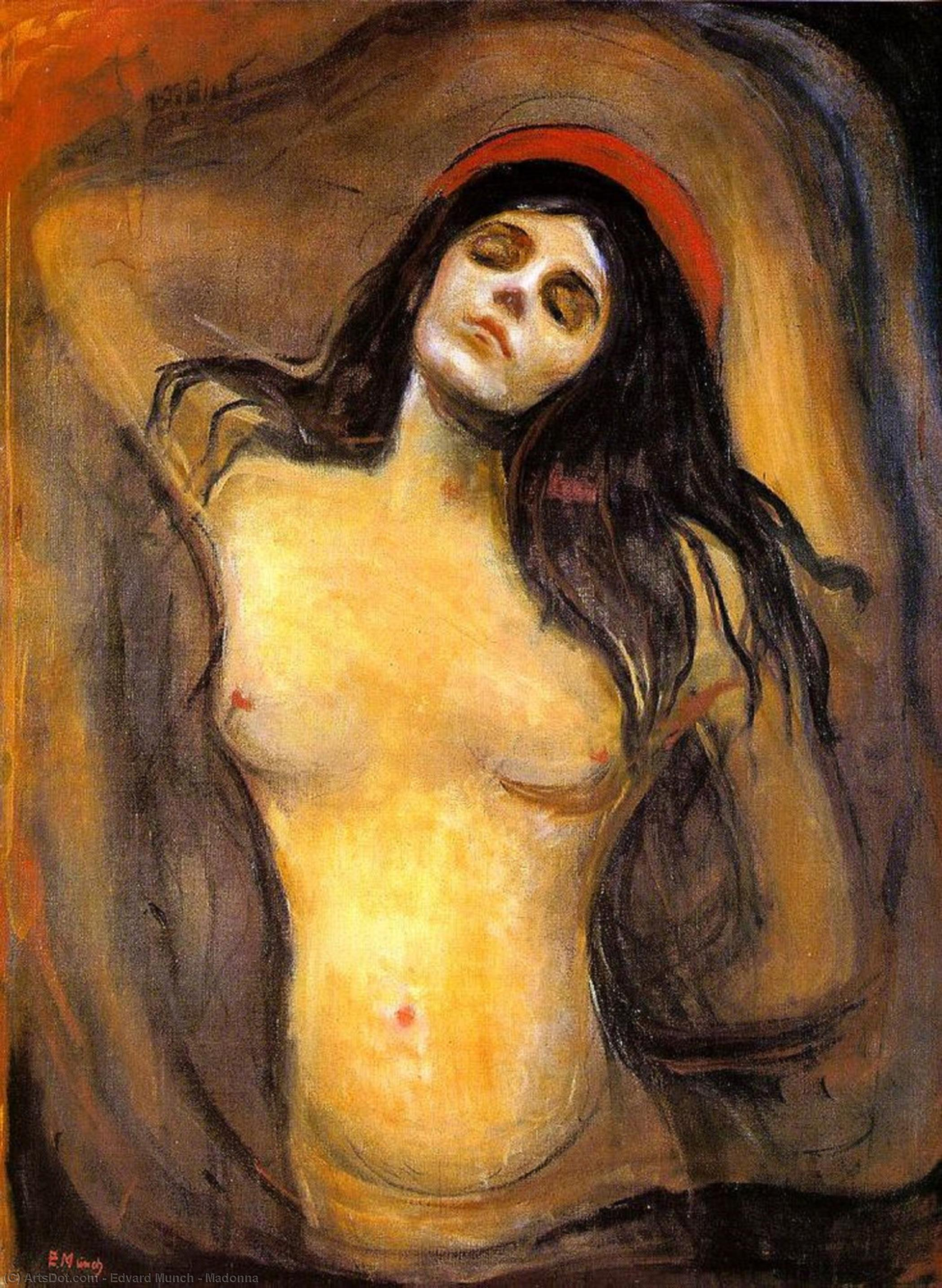Wikioo.org - The Encyclopedia of Fine Arts - Painting, Artwork by Edvard Munch - Madonna