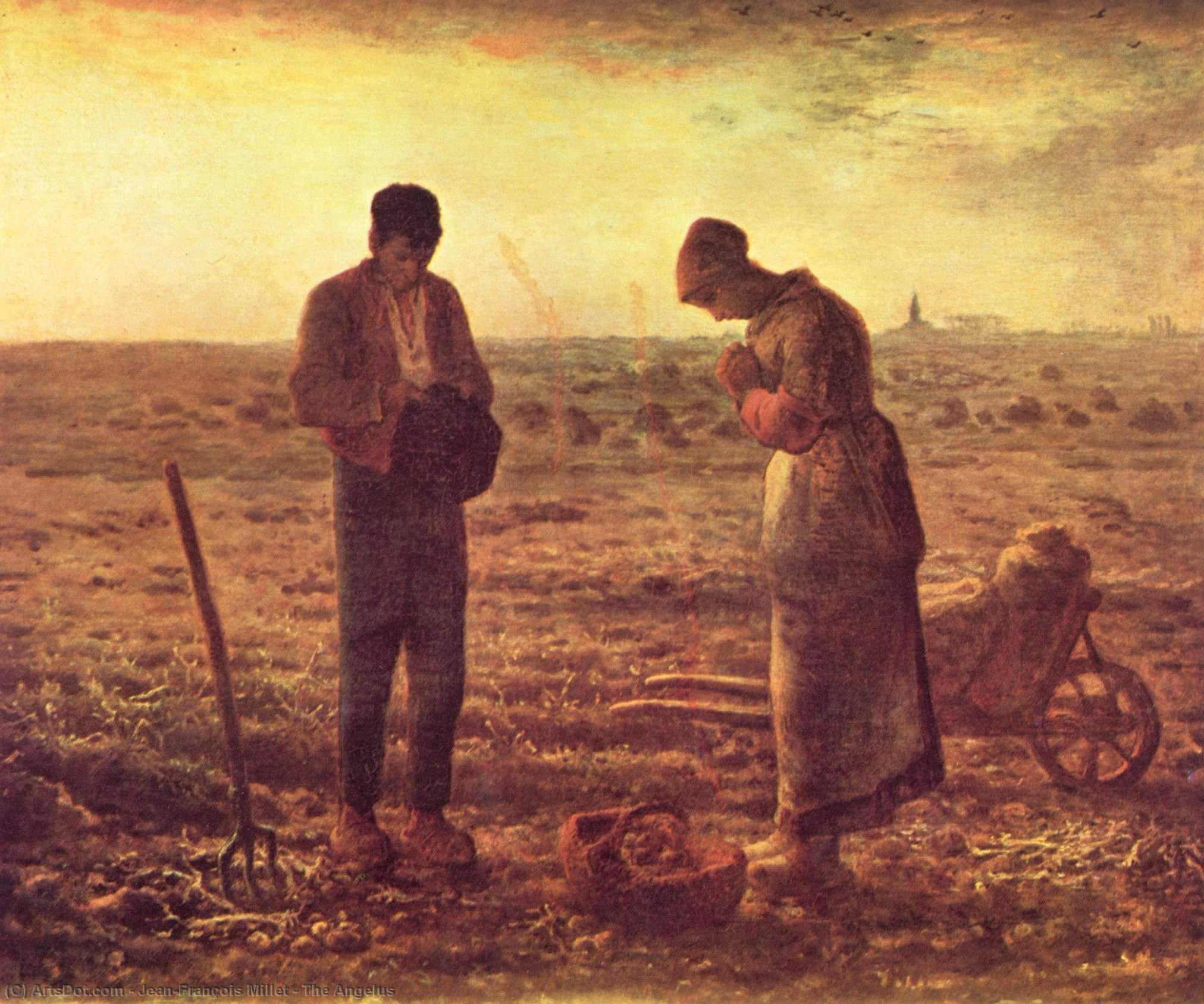 Wikioo.org - The Encyclopedia of Fine Arts - Painting, Artwork by Jean-François Millet - The Angelus
