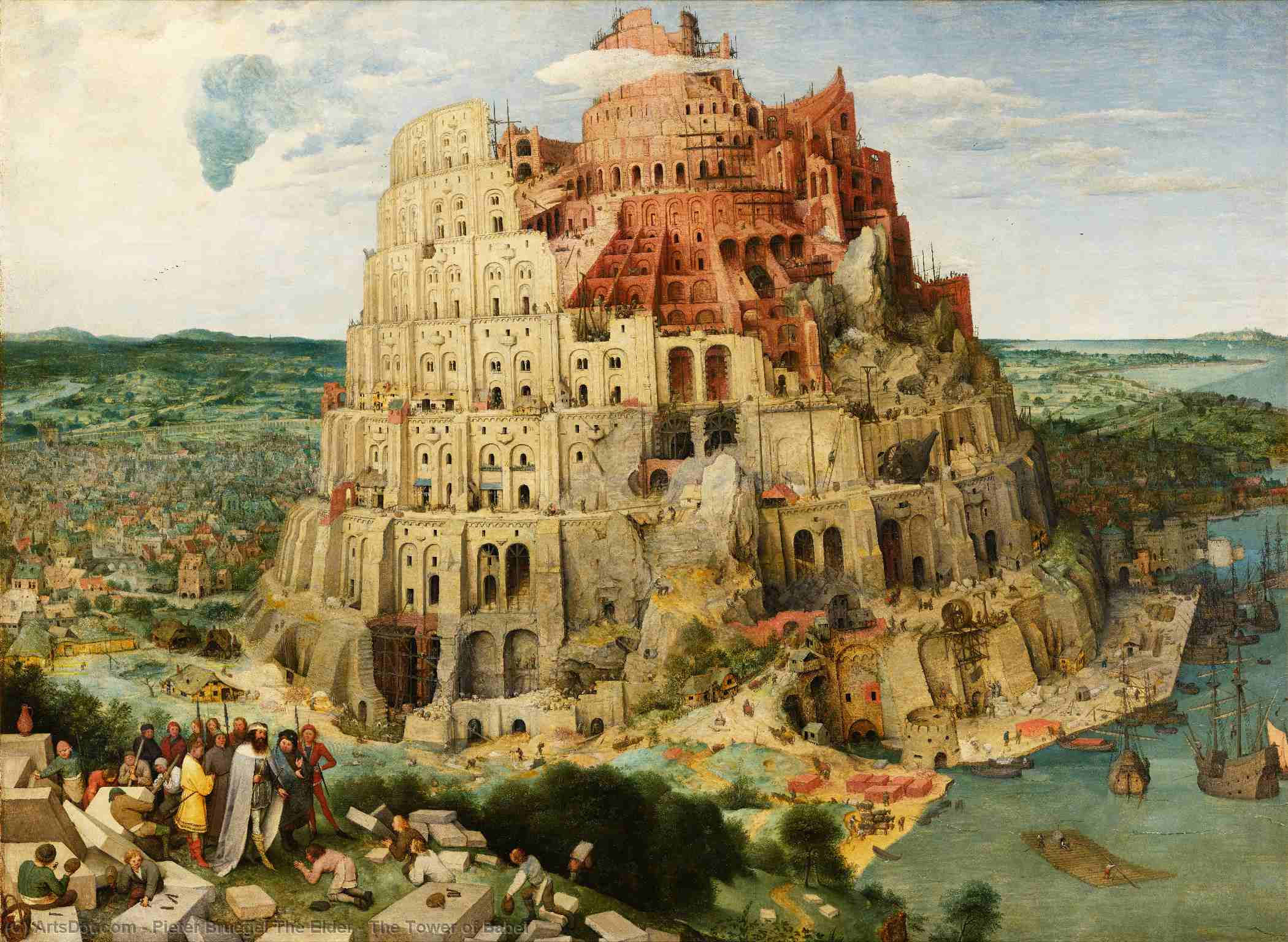 Wikioo.org - The Encyclopedia of Fine Arts - Painting, Artwork by Pieter Bruegel The Elder - The Tower of Babel