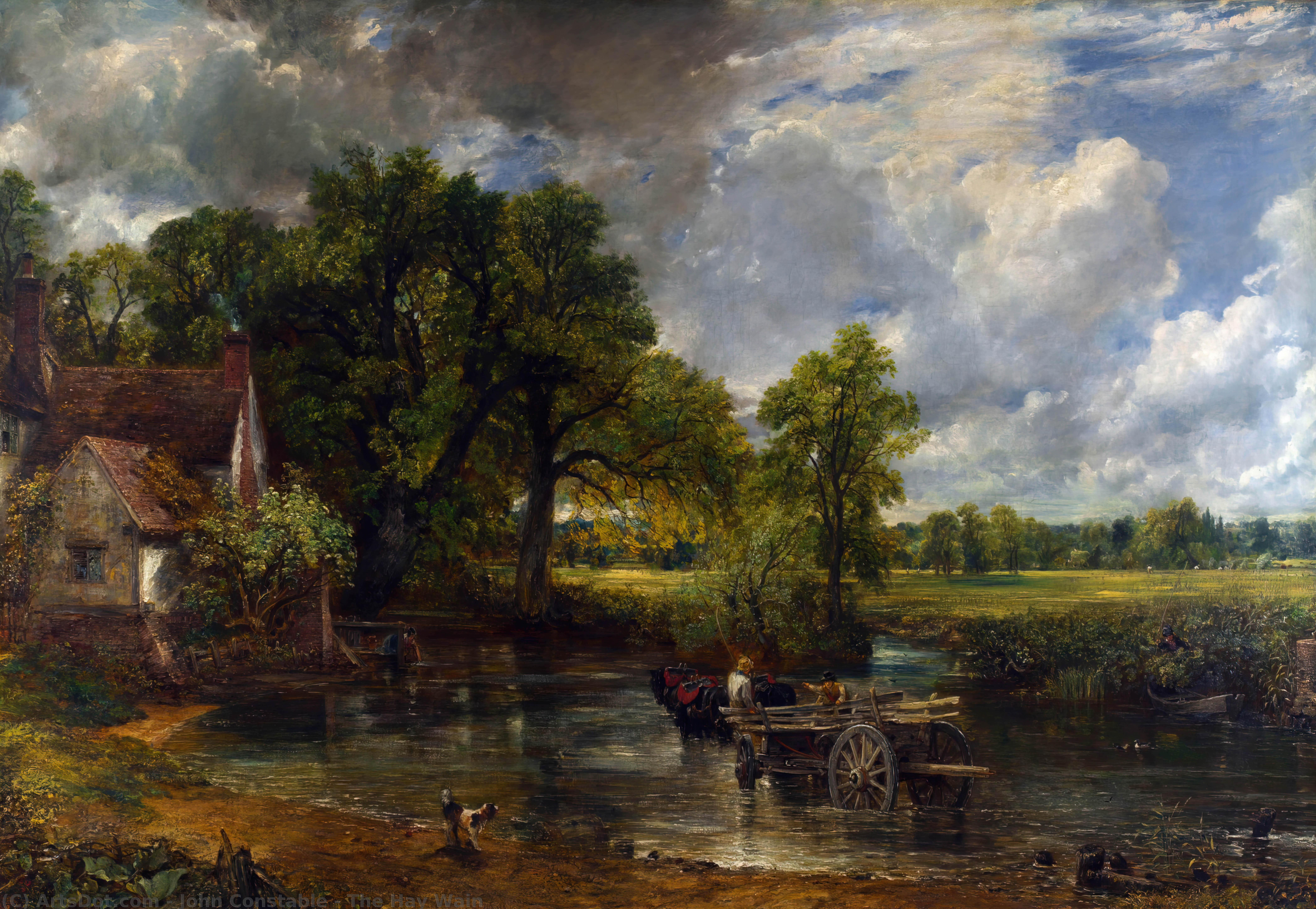 Wikioo.org - The Encyclopedia of Fine Arts - Painting, Artwork by John Constable - The Hay Wain