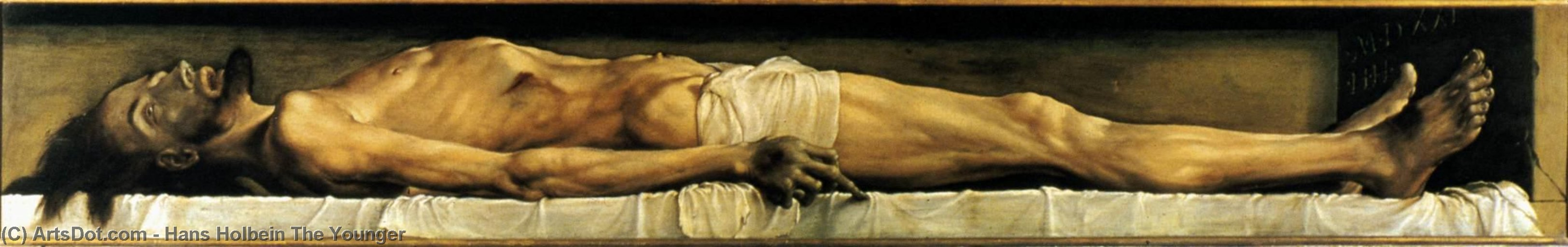 WikiOO.org - Encyclopedia of Fine Arts - Schilderen, Artwork Hans Holbein The Younger - The Body of the Dead Christ in the Tomb