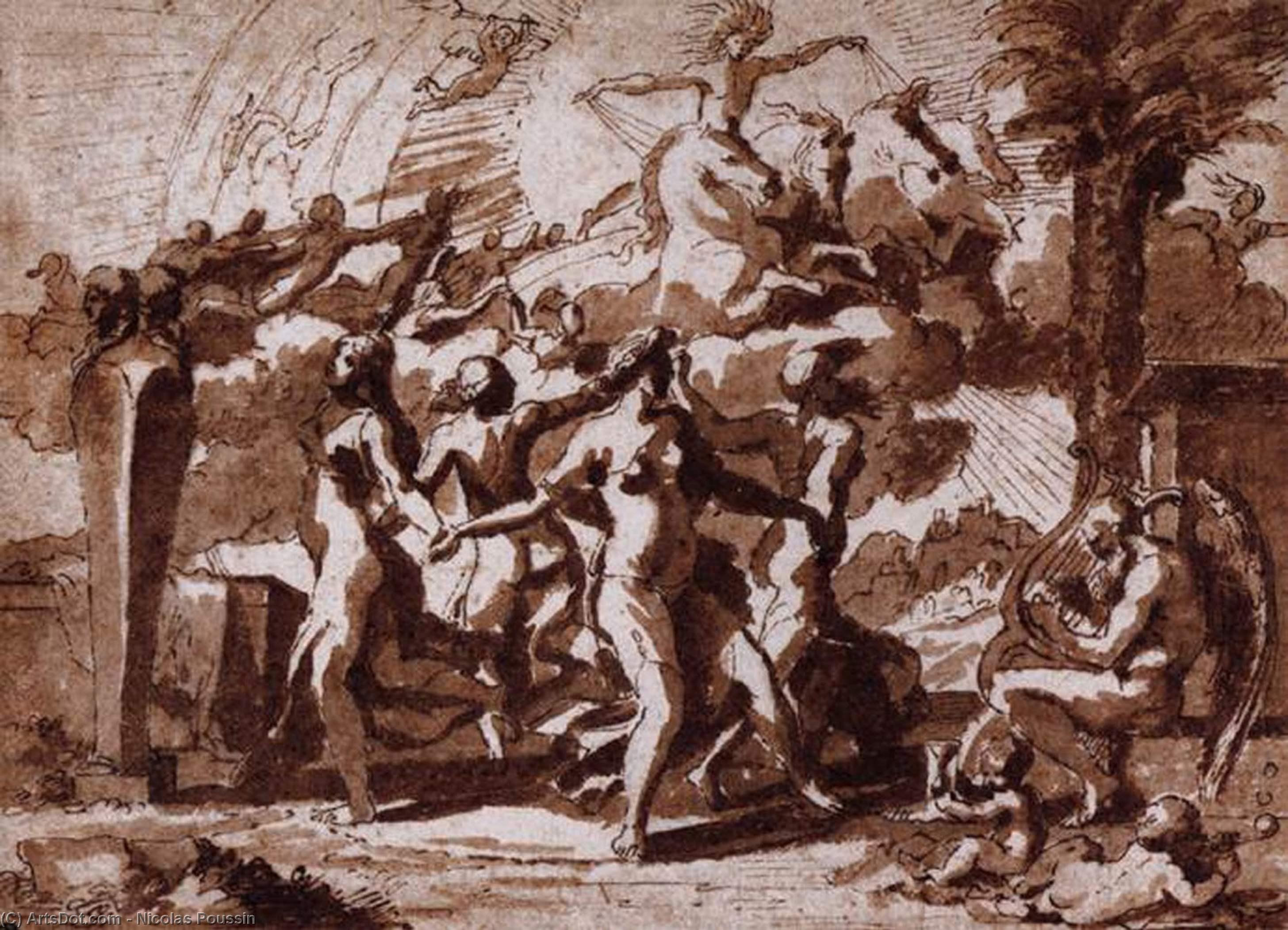 WikiOO.org - Enciclopédia das Belas Artes - Pintura, Arte por Nicolas Poussin - A Dance to the Music of Time
