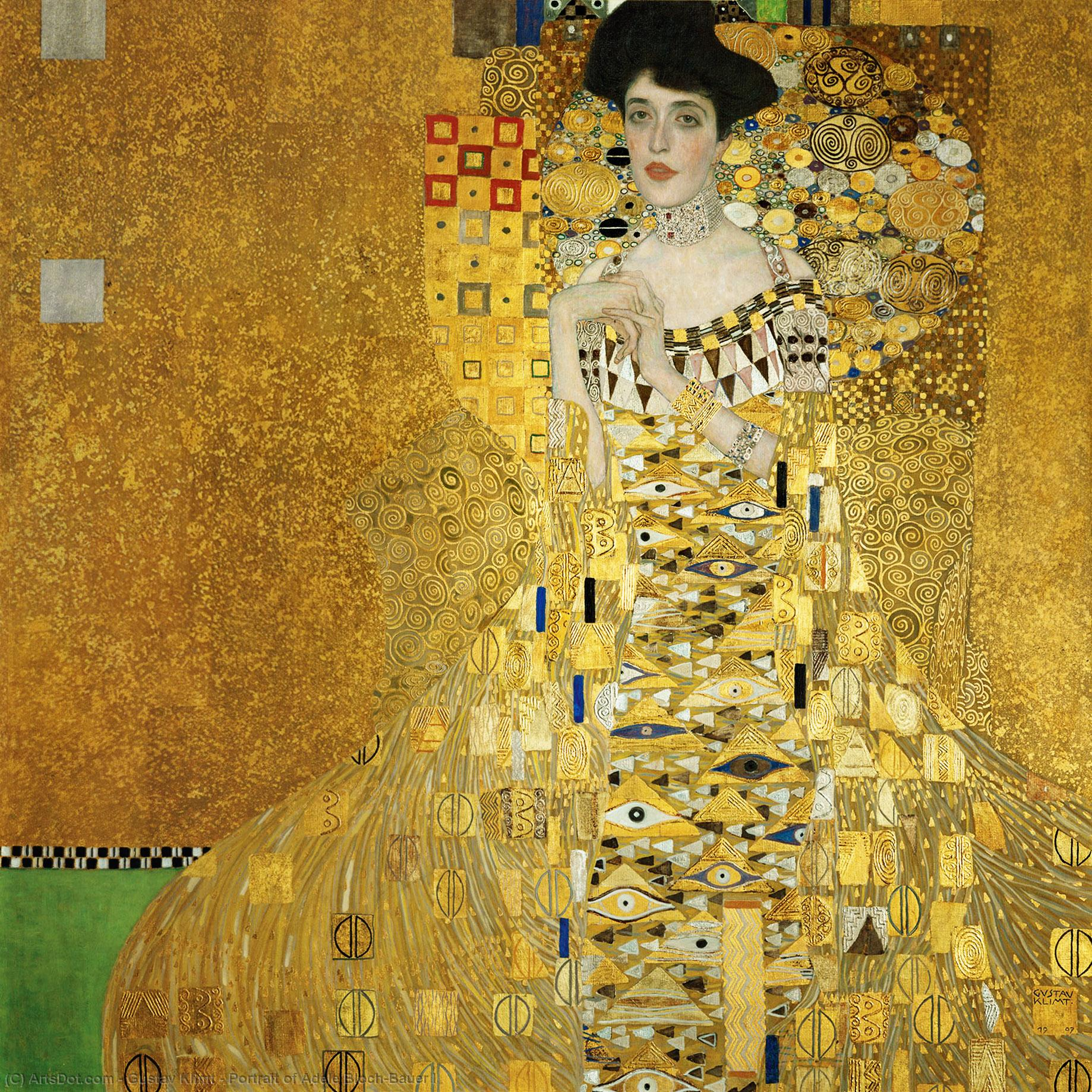 Wikioo.org - The Encyclopedia of Fine Arts - Painting, Artwork by Gustav Klimt - Portrait of Adele Bloch-Bauer I