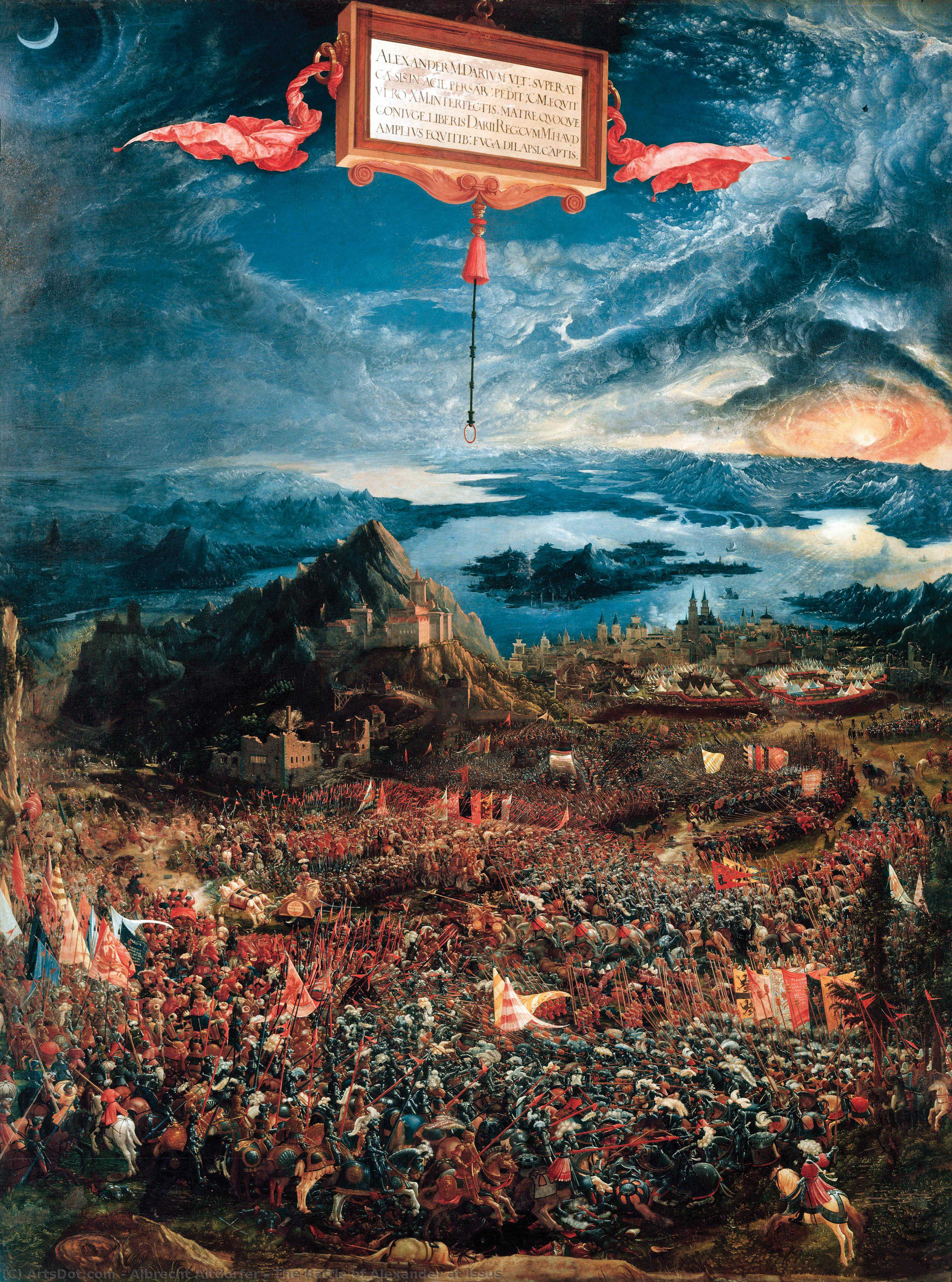 Wikioo.org - The Encyclopedia of Fine Arts - Painting, Artwork by Albrecht Altdorfer - The Battle of Alexander at Issus