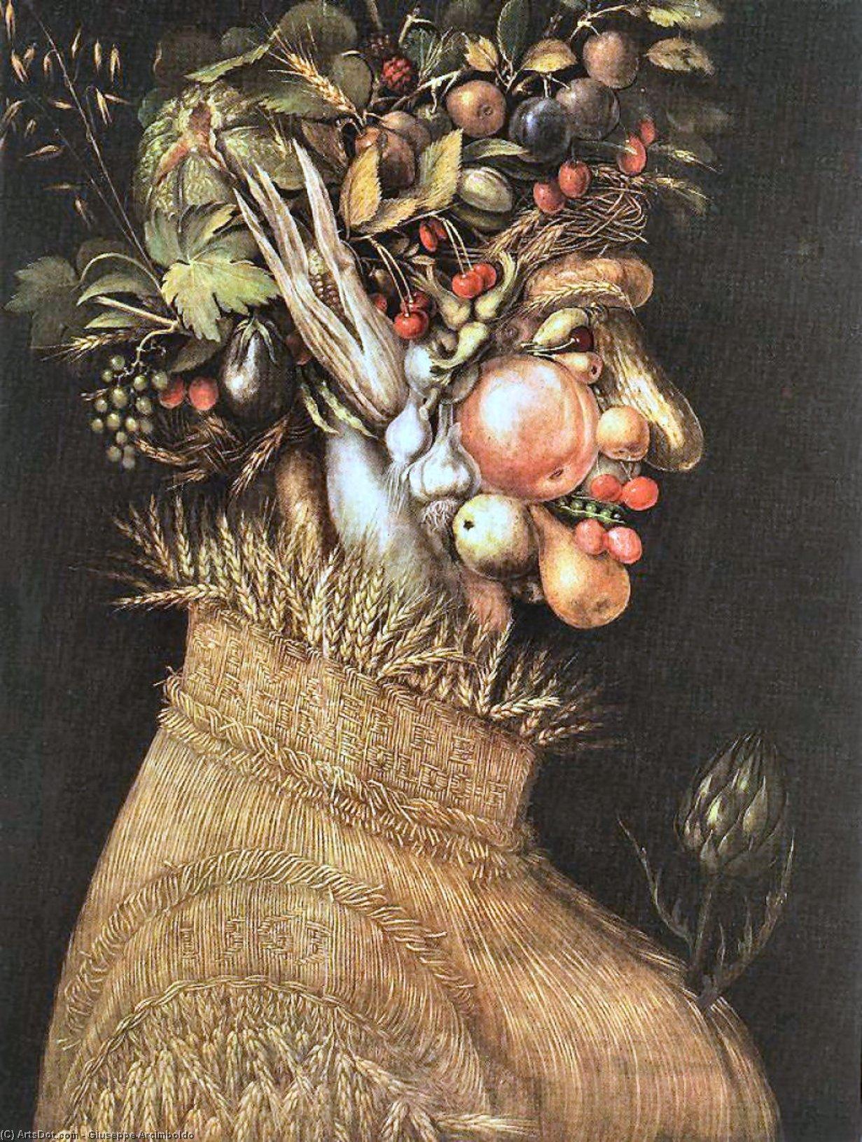 Wikioo.org - The Encyclopedia of Fine Arts - Painting, Artwork by Giuseppe Arcimboldo - Summer 1
