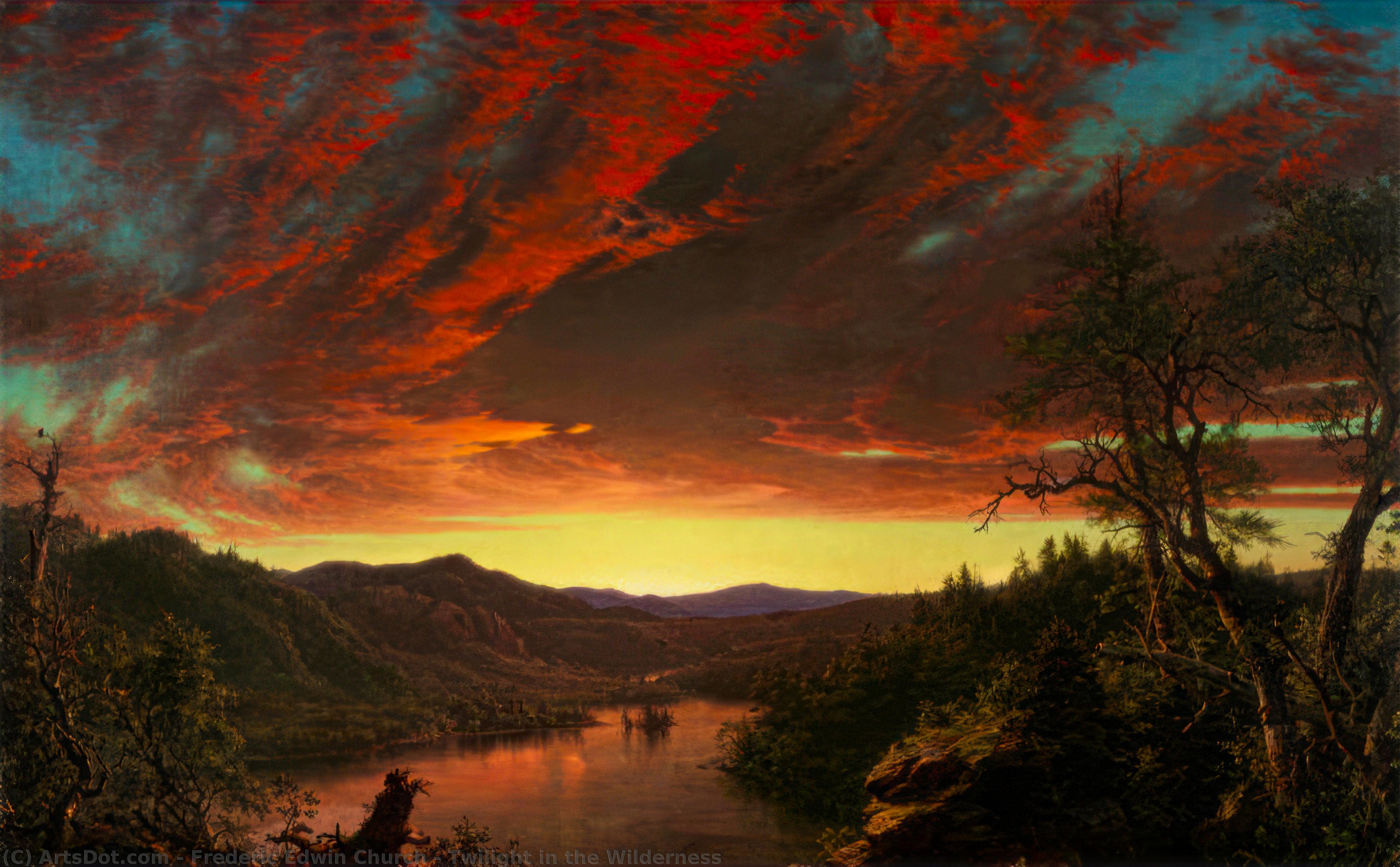 Twilight in the Wilderness - Frederic Edwin Church