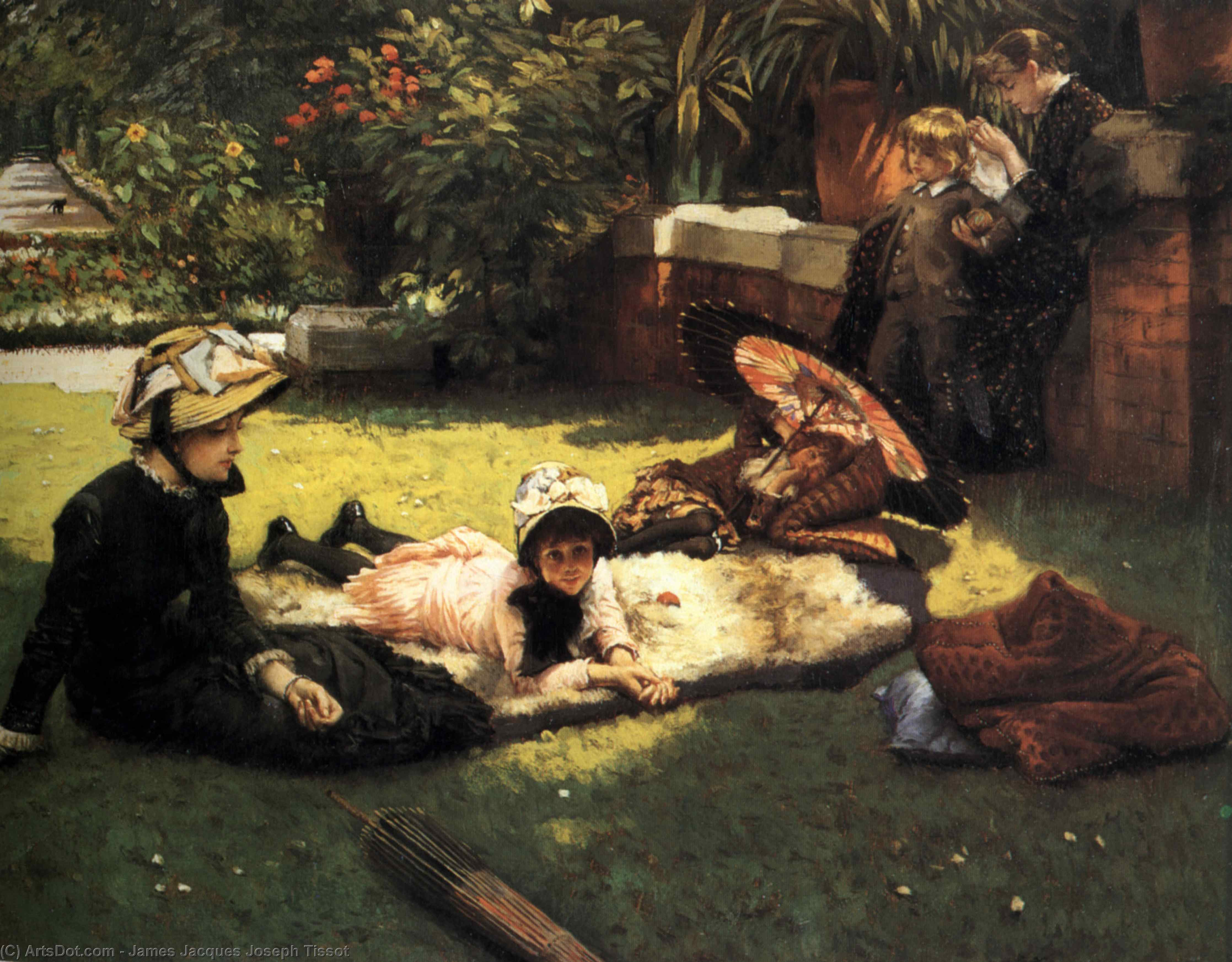 Wikioo.org - The Encyclopedia of Fine Arts - Painting, Artwork by James Jacques Joseph Tissot - In the Sunshine