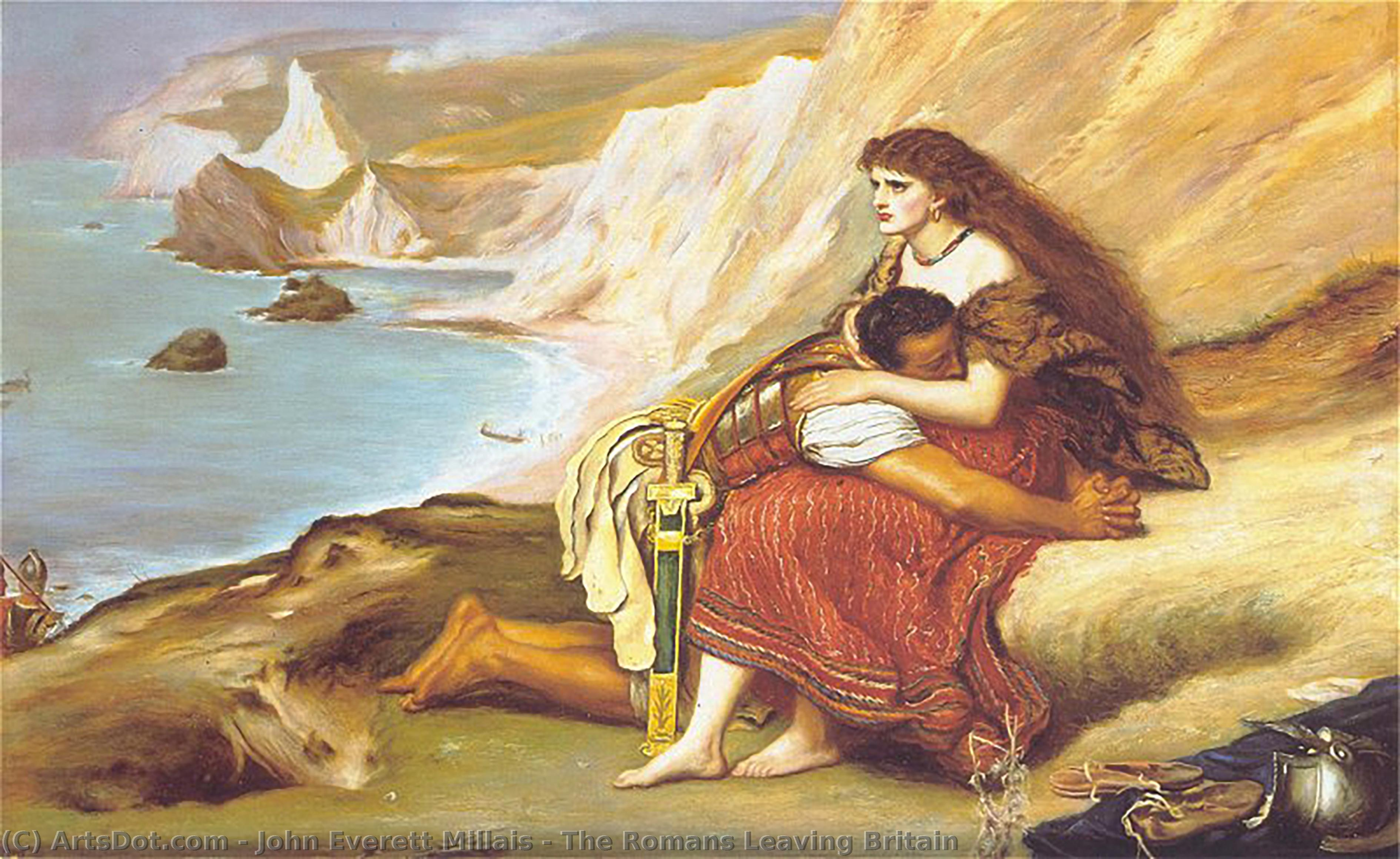 Wikioo.org - The Encyclopedia of Fine Arts - Painting, Artwork by John Everett Millais - The Romans Leaving Britain