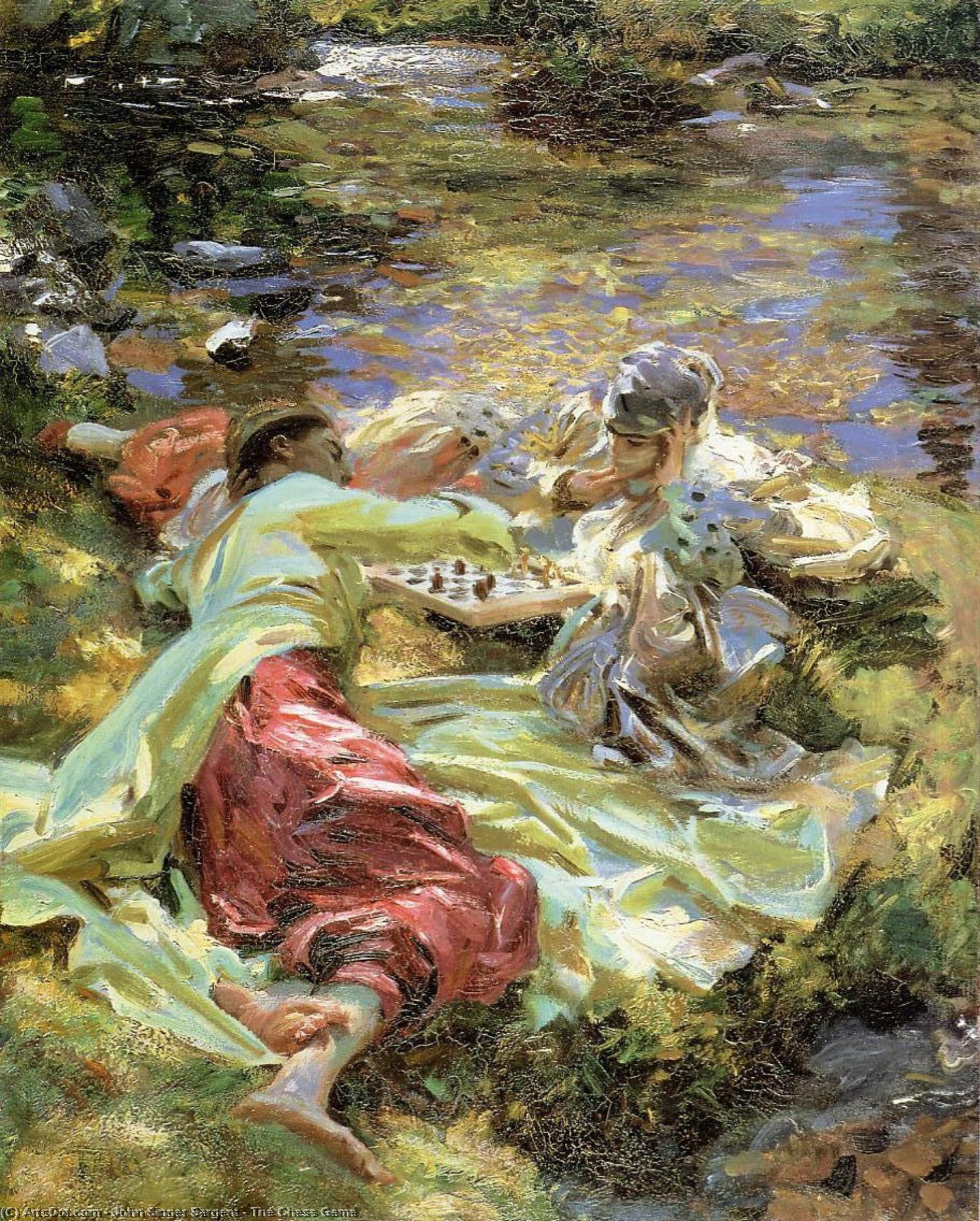 Wikioo.org - The Encyclopedia of Fine Arts - Painting, Artwork by John Singer Sargent - The Chess Game