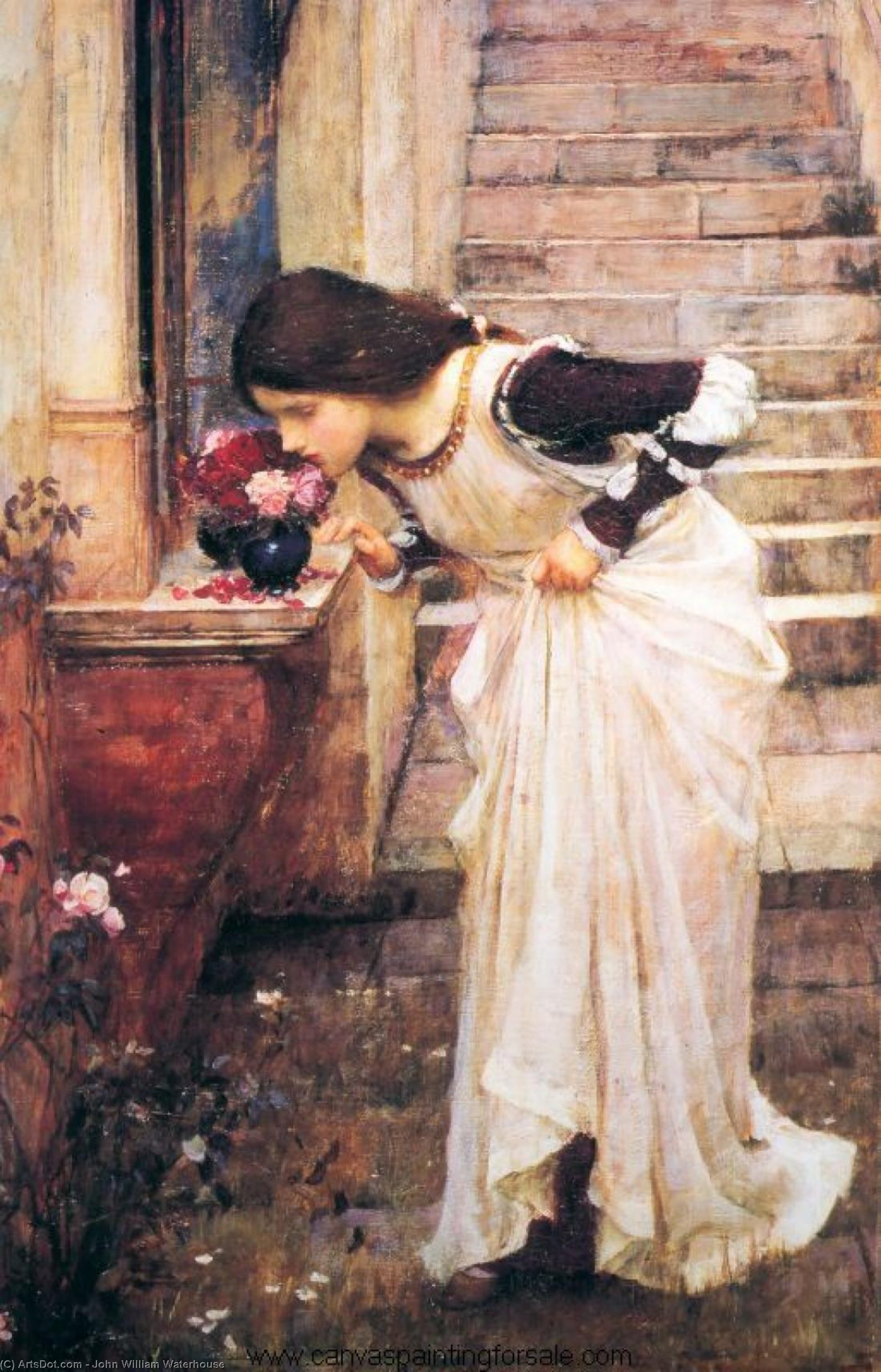 Wikioo.org - The Encyclopedia of Fine Arts - Painting, Artwork by John William Waterhouse - At the Shrine