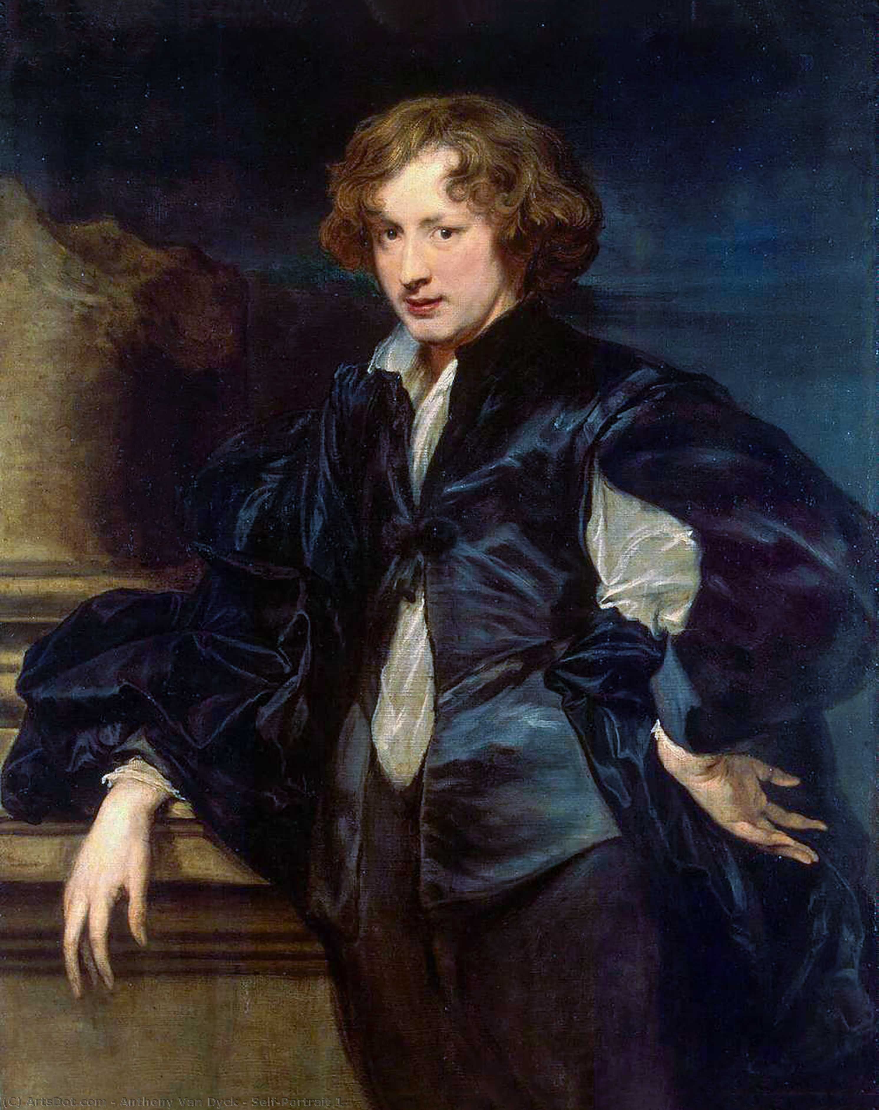 Wikioo.org - The Encyclopedia of Fine Arts - Painting, Artwork by Anthony Van Dyck - Self-Portrait 1