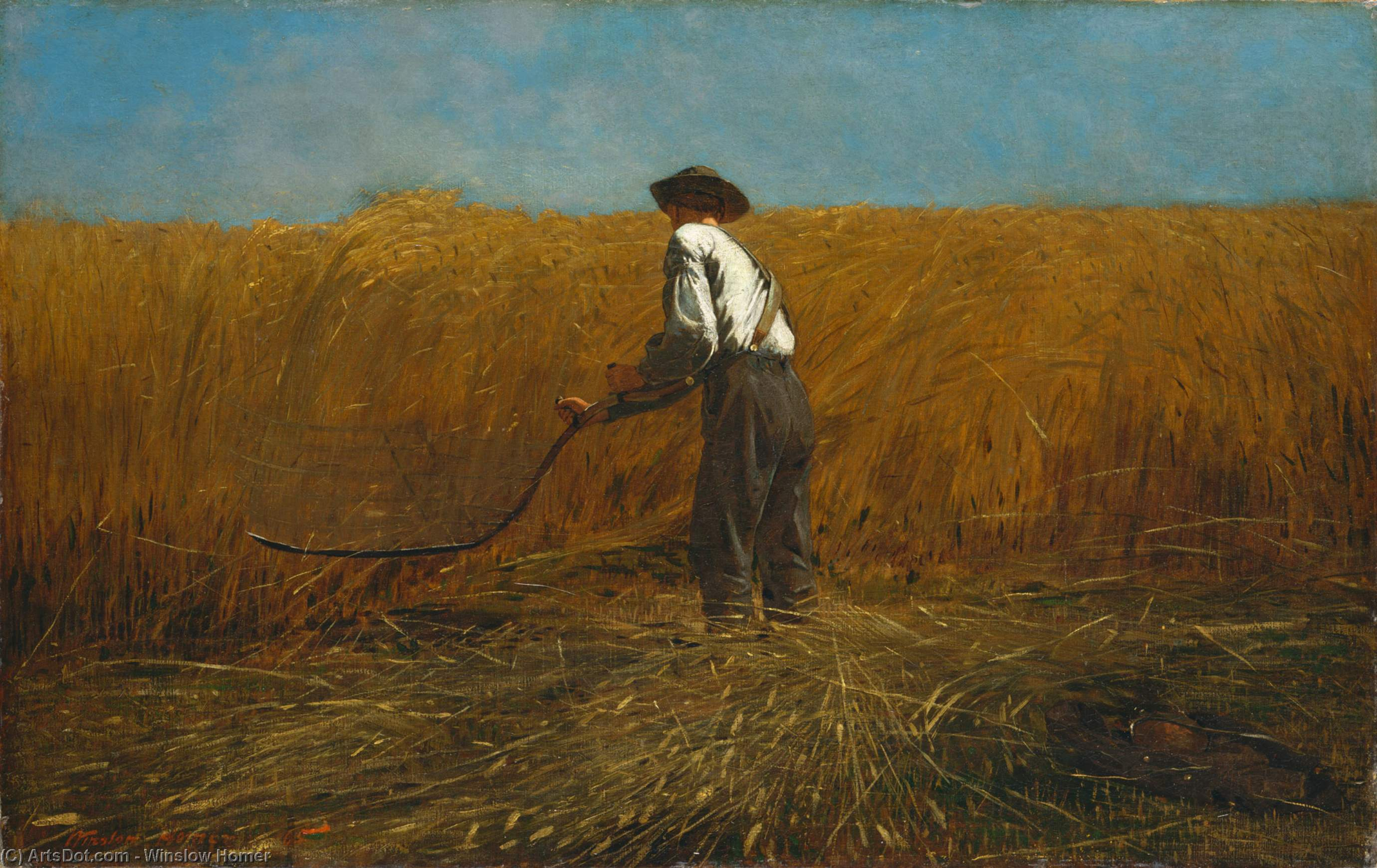 Wikioo.org - The Encyclopedia of Fine Arts - Painting, Artwork by Winslow Homer - The Veteran in a New Field