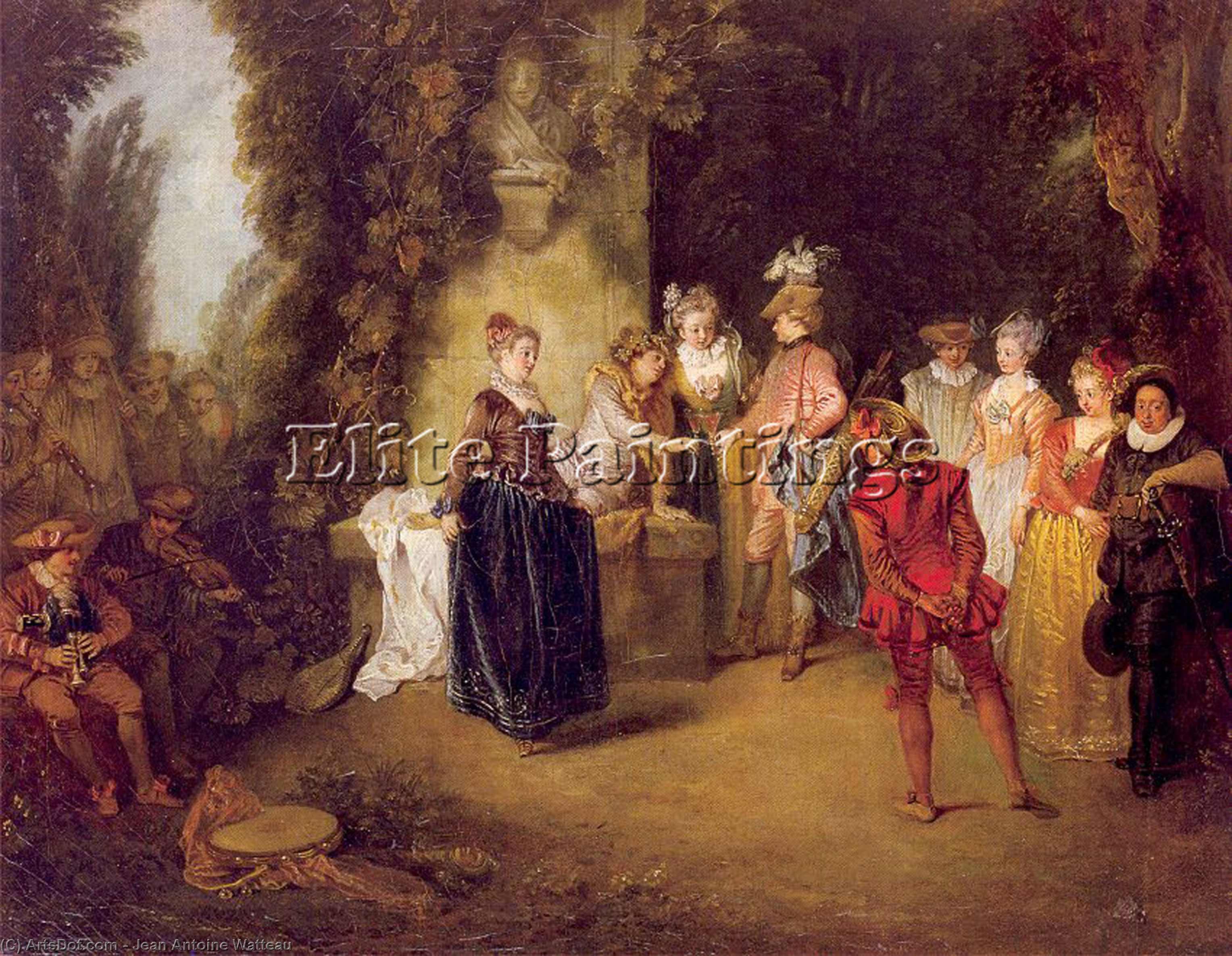WikiOO.org - Enciklopedija dailės - Tapyba, meno kuriniai Jean Antoine Watteau - The French Theater