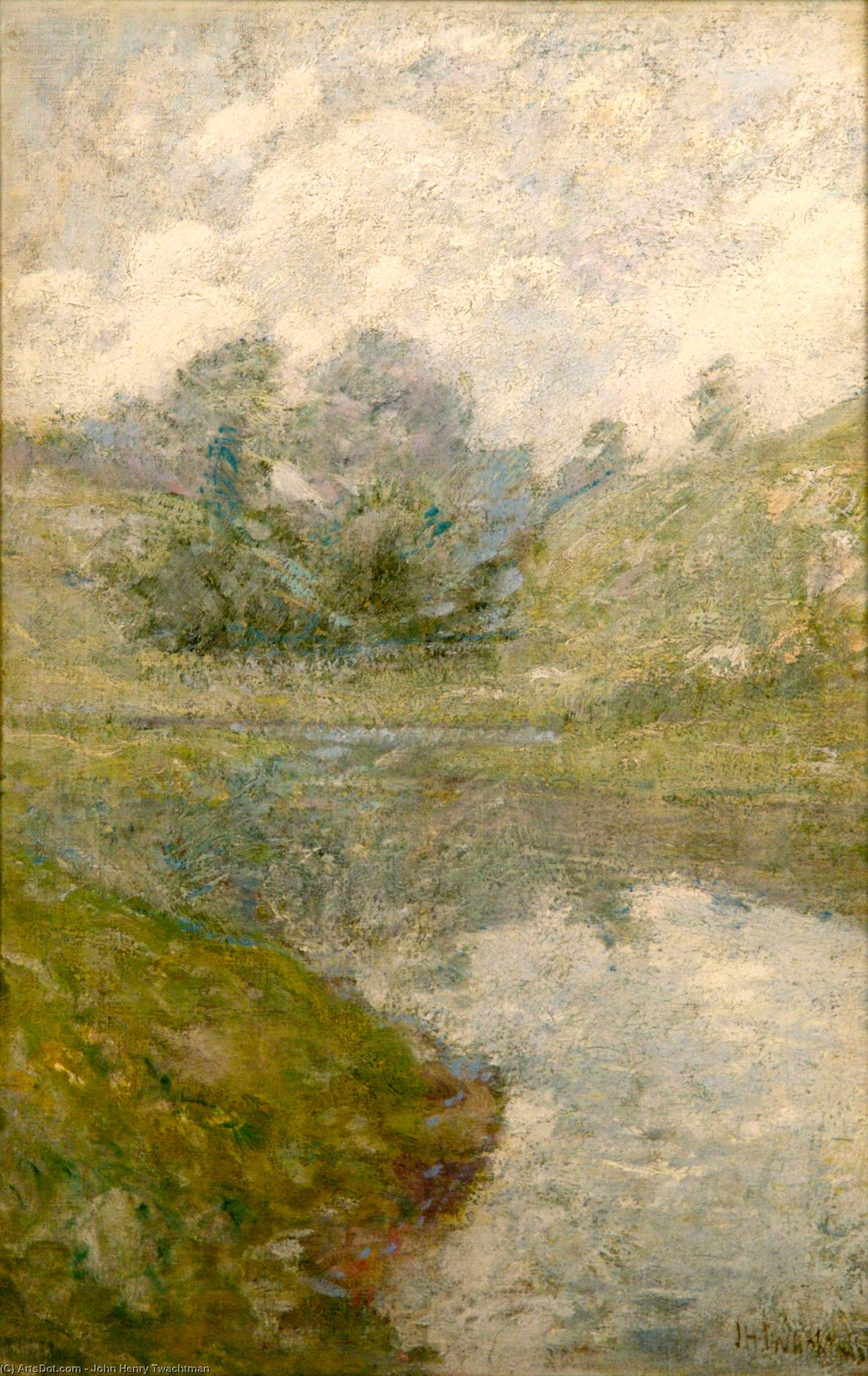 Wikioo.org - The Encyclopedia of Fine Arts - Painting, Artwork by John Henry Twachtman - Landscape 3