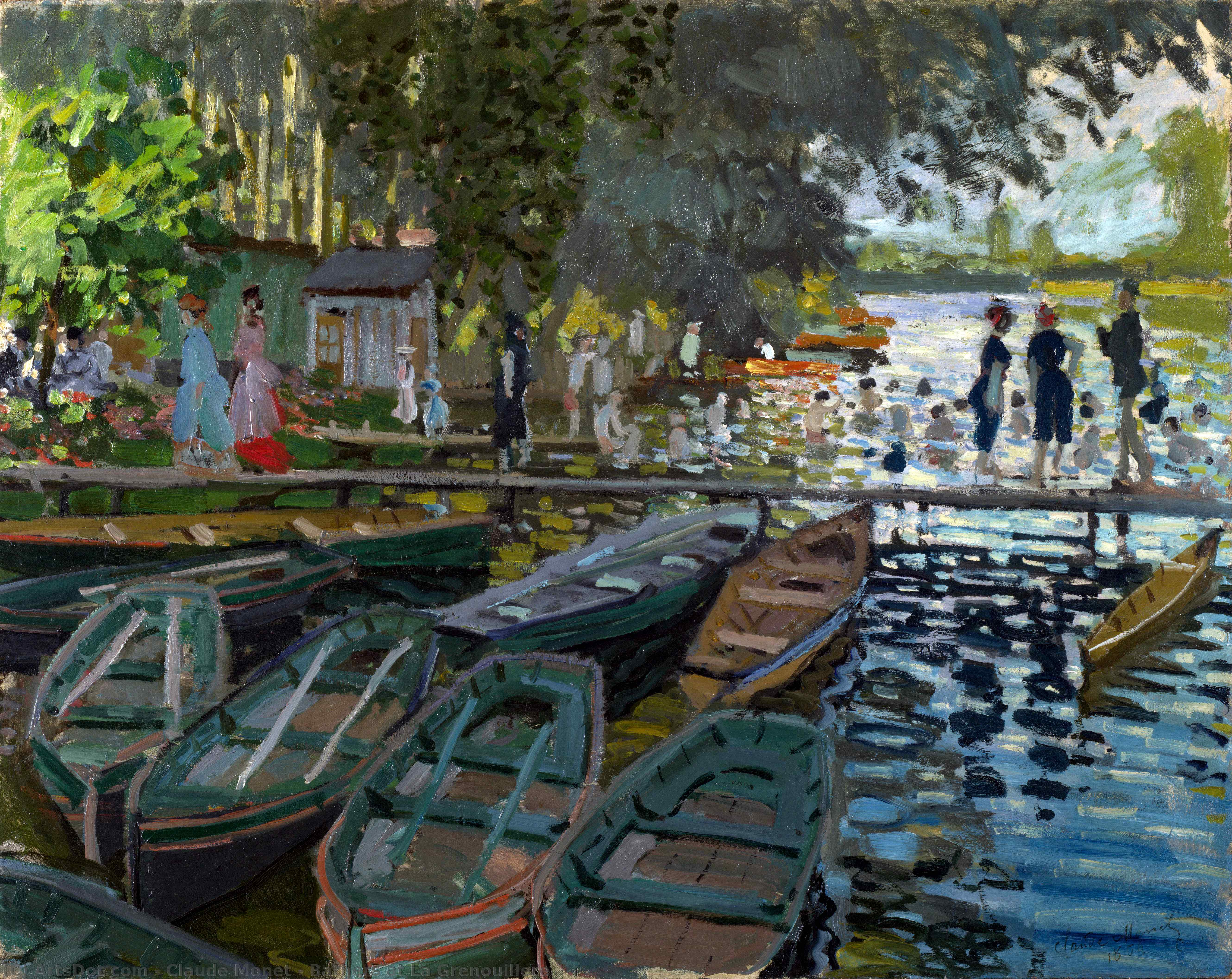 Wikioo.org - The Encyclopedia of Fine Arts - Painting, Artwork by Claude Monet - Bathers at La Grenouillere