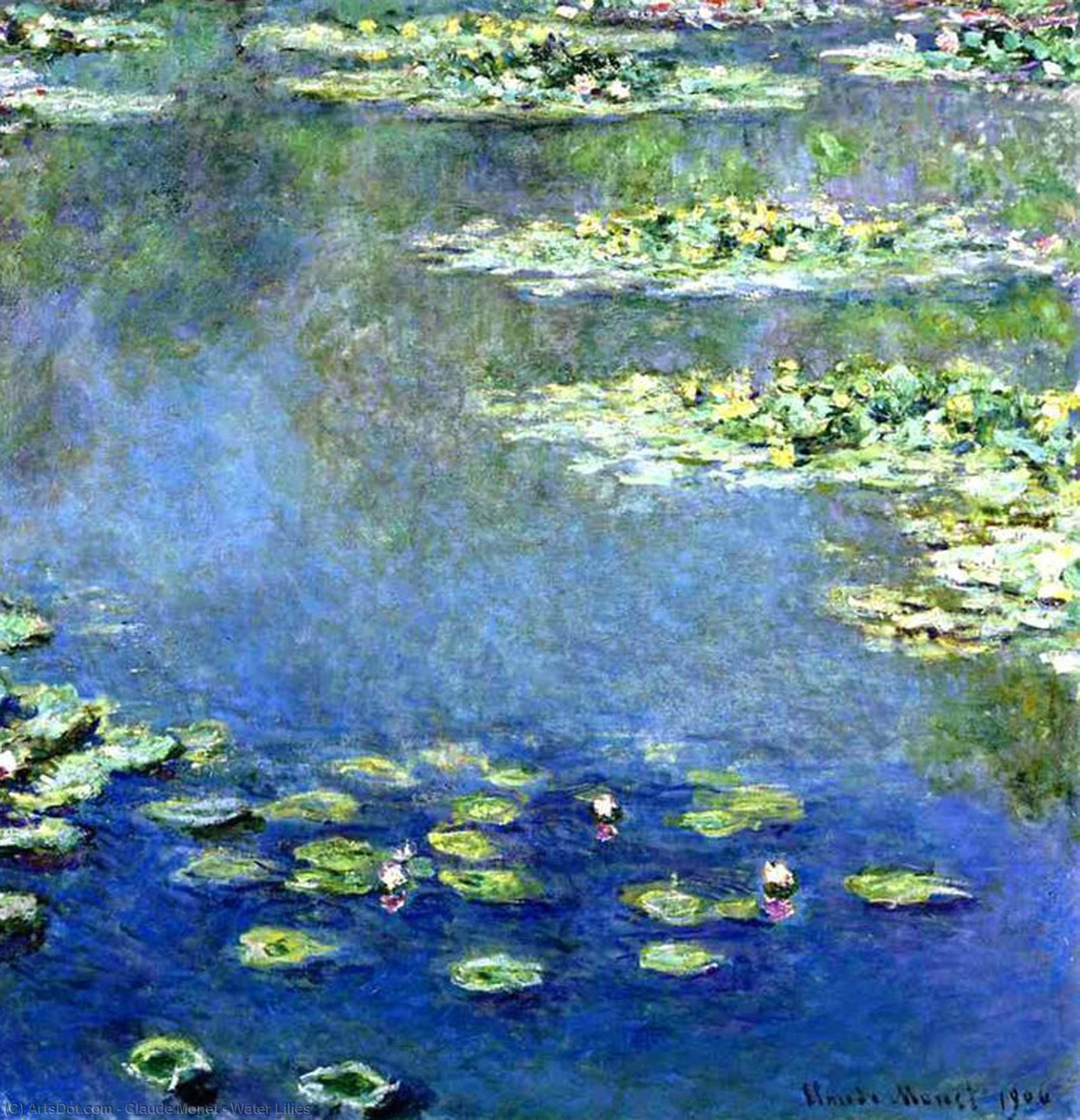 WikiOO.org - Encyclopedia of Fine Arts - Maleri, Artwork Claude Monet - Water Lilies