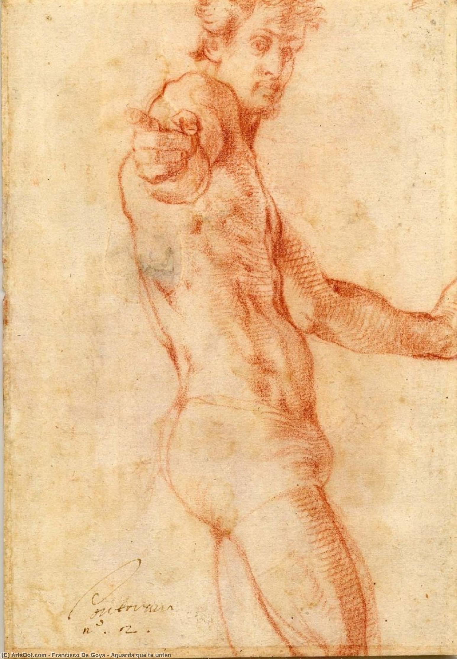 Wikioo.org - The Encyclopedia of Fine Arts - Painting, Artwork by Francisco De Goya - Aguarda que te unten
