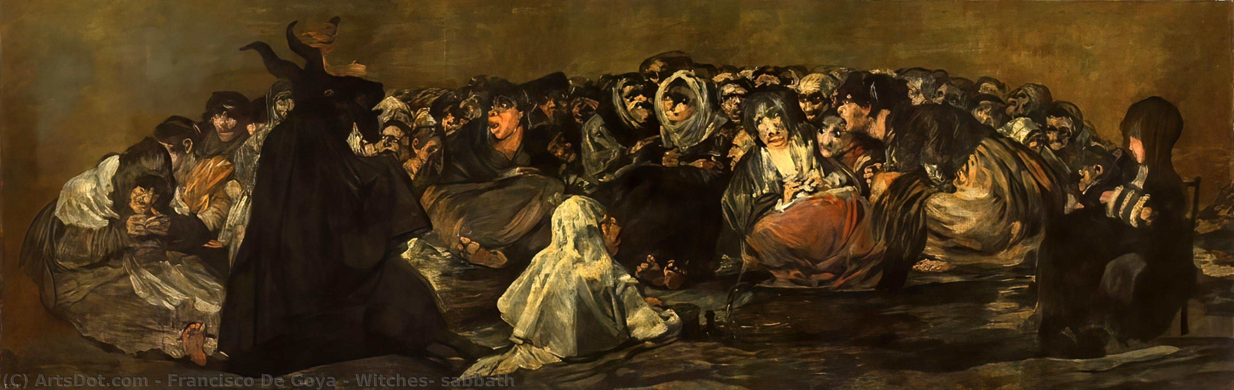 Wikioo.org - The Encyclopedia of Fine Arts - Painting, Artwork by Francisco De Goya - Witches' sabbath