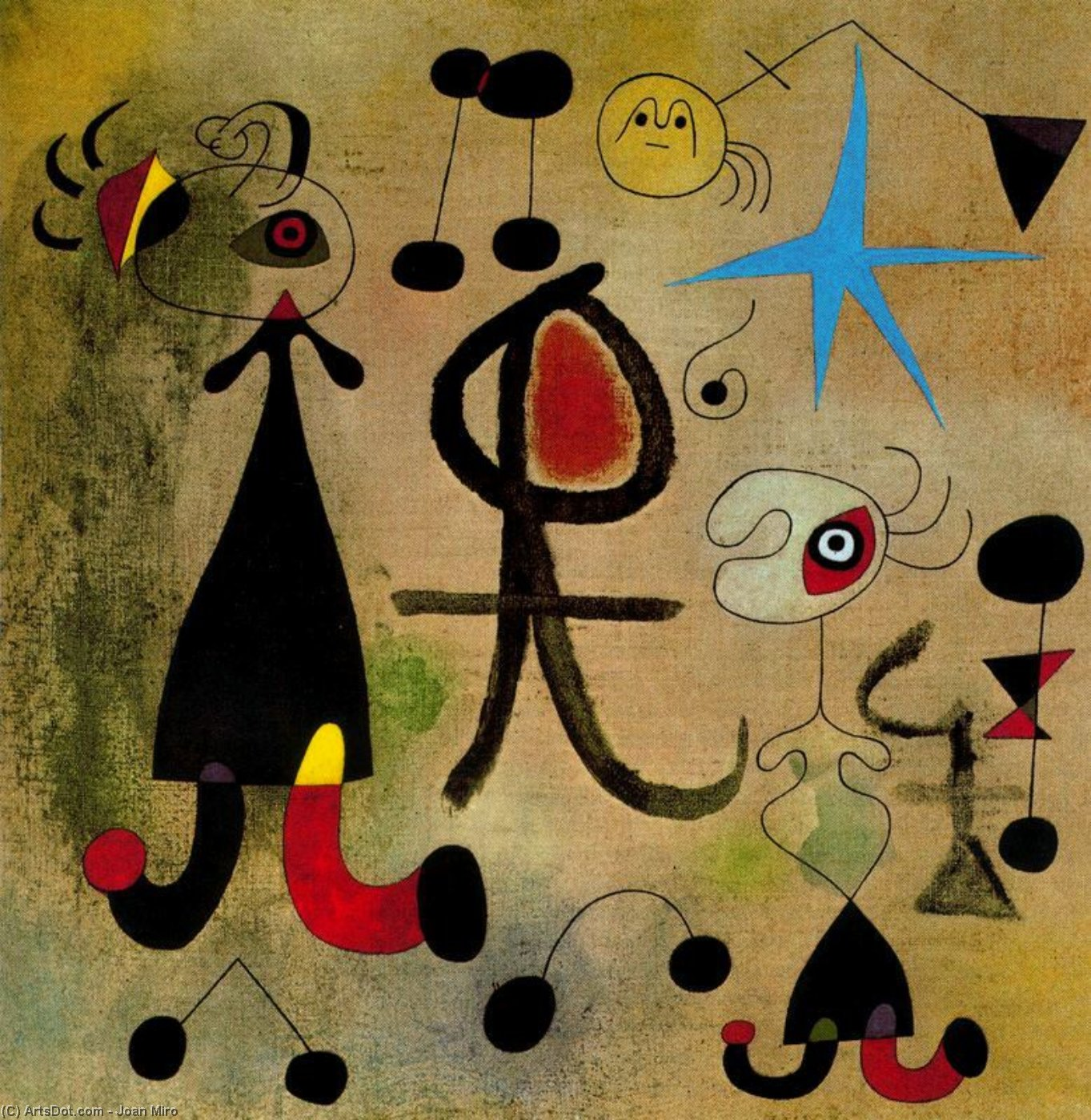 Wikioo.org - The Encyclopedia of Fine Arts - Painting, Artwork by Joan Miro - La esperanza