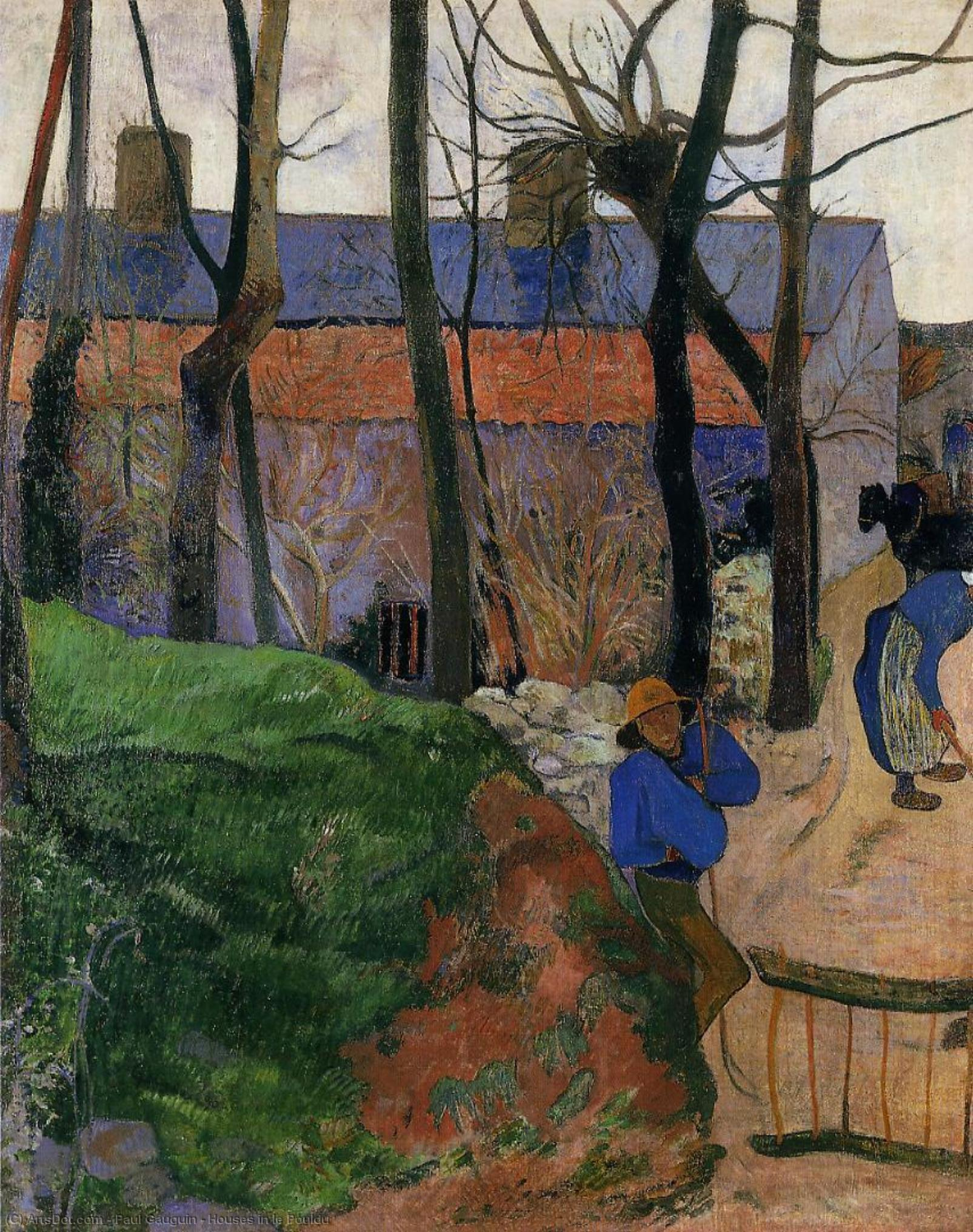 Wikioo.org - The Encyclopedia of Fine Arts - Painting, Artwork by Paul Gauguin - Houses in le Pouldu