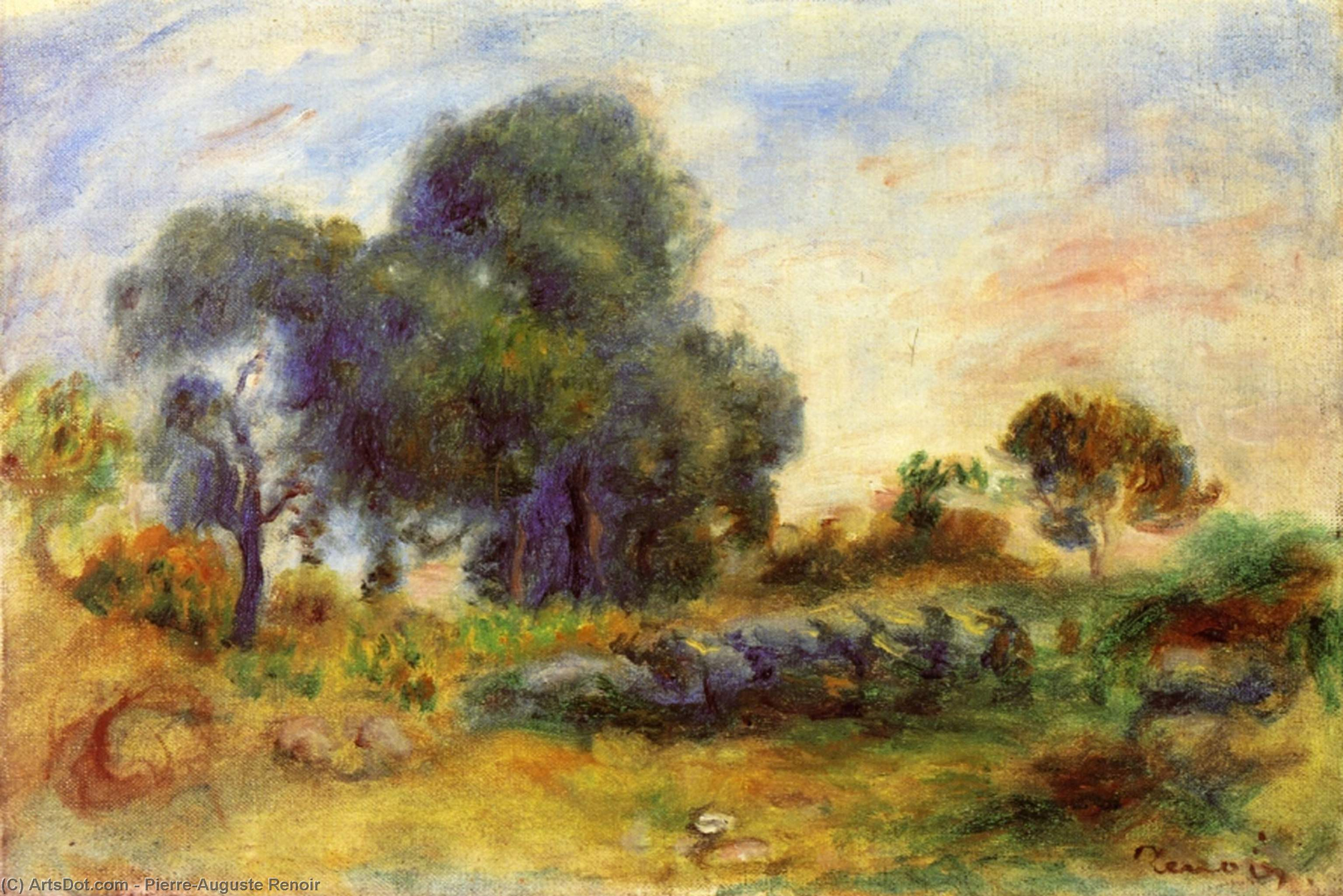 Wikioo.org - The Encyclopedia of Fine Arts - Painting, Artwork by Pierre-Auguste Renoir - Landscape 3