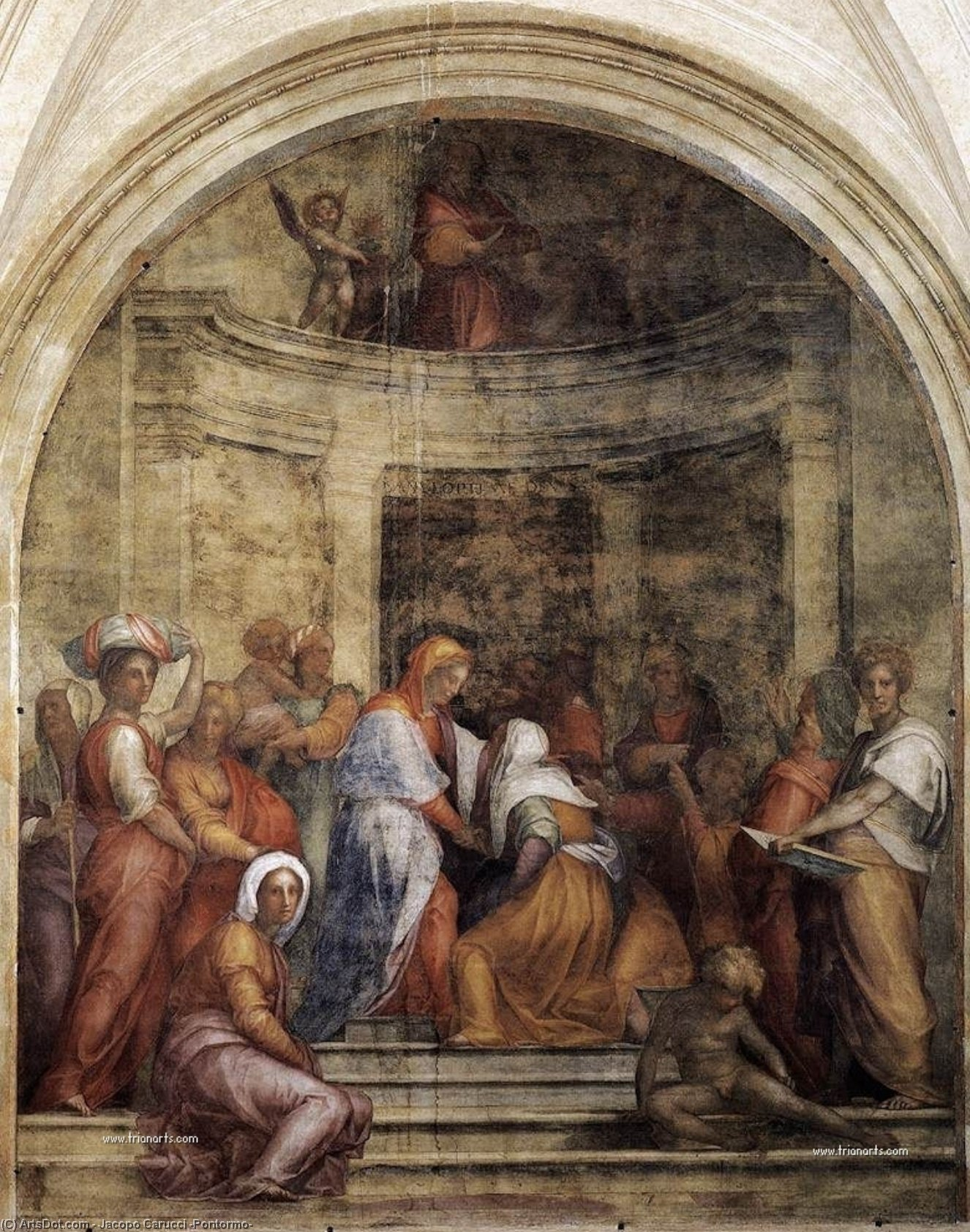 Wikioo.org - The Encyclopedia of Fine Arts - Painting, Artwork by Jacopo Carucci (Pontormo) - Visitation