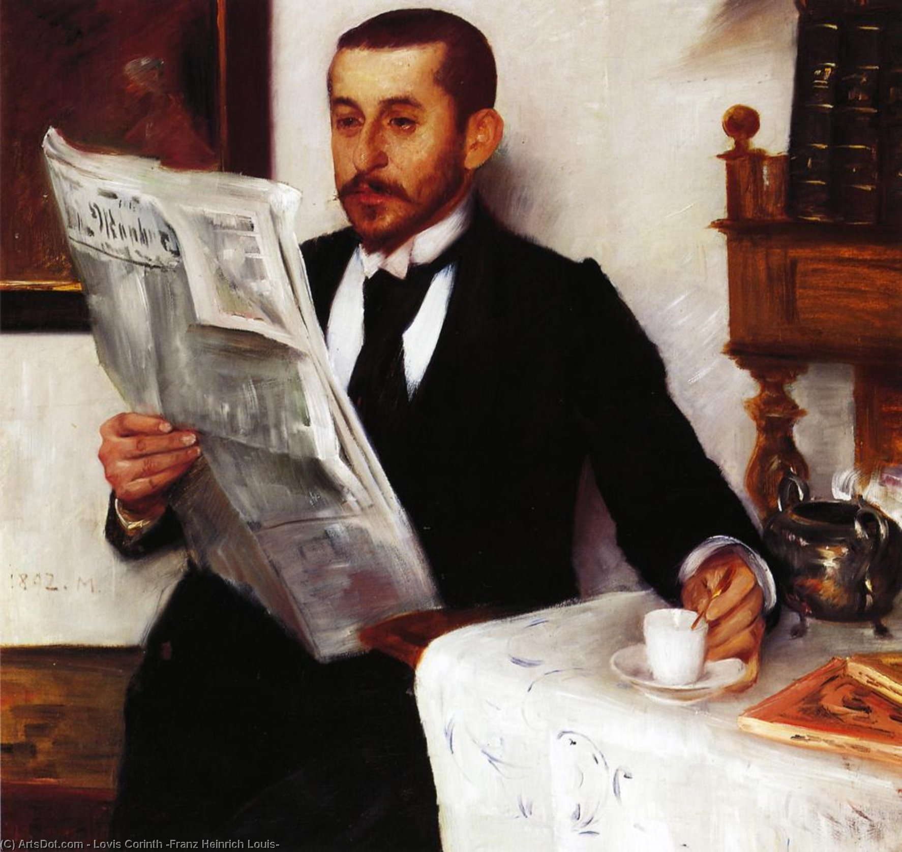 Wikioo.org - The Encyclopedia of Fine Arts - Painting, Artwork by Lovis Corinth (Franz Heinrich Louis) - Portrait of the Painter Benno Becker