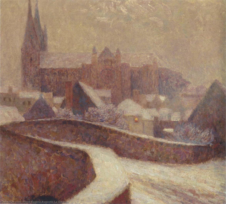 Wikoo.org - موسوعة الفنون الجميلة - اللوحة، العمل الفني Henri Eugène Augustin Le Sidaner - The Cathedral at Chartres