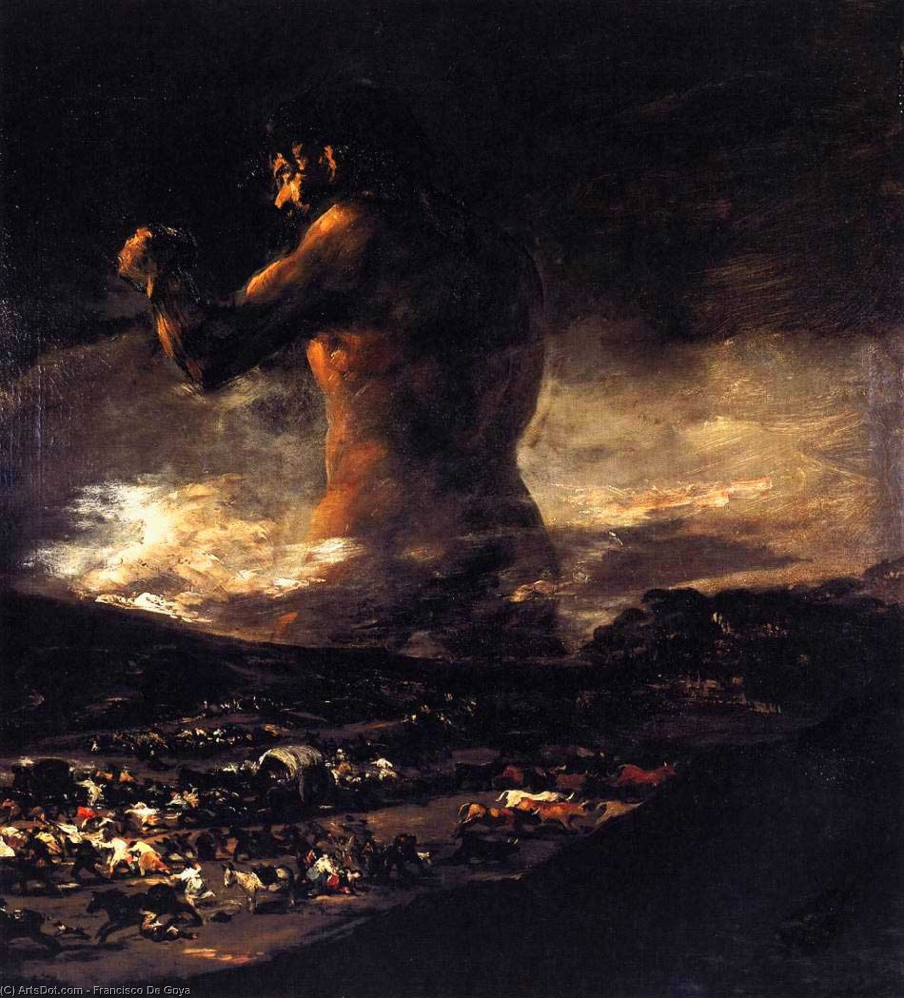 Wikioo.org - The Encyclopedia of Fine Arts - Painting, Artwork by Francisco De Goya - The Colossus