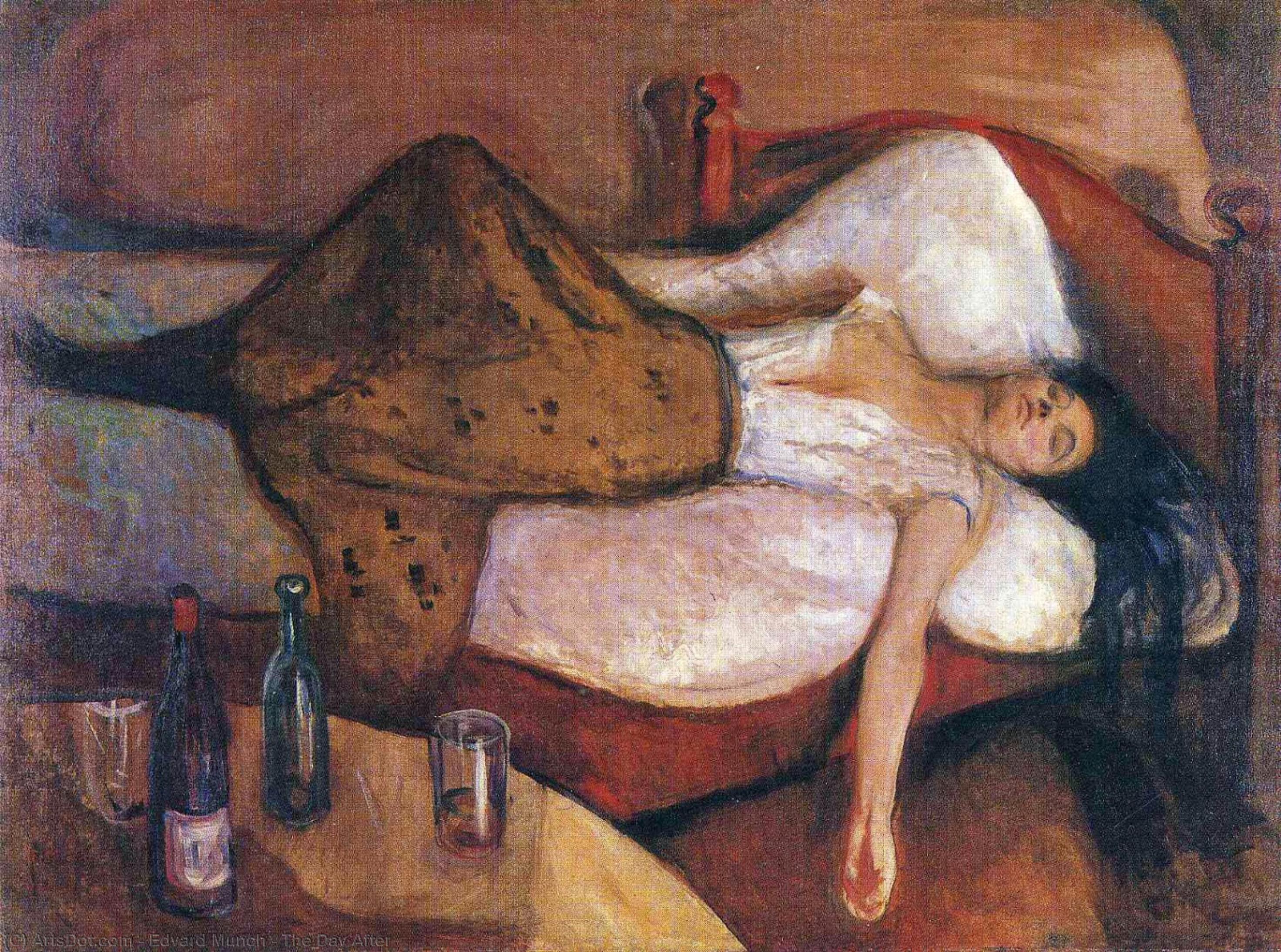 WikiOO.org - Encyclopedia of Fine Arts - Schilderen, Artwork Edvard Munch - The Day After