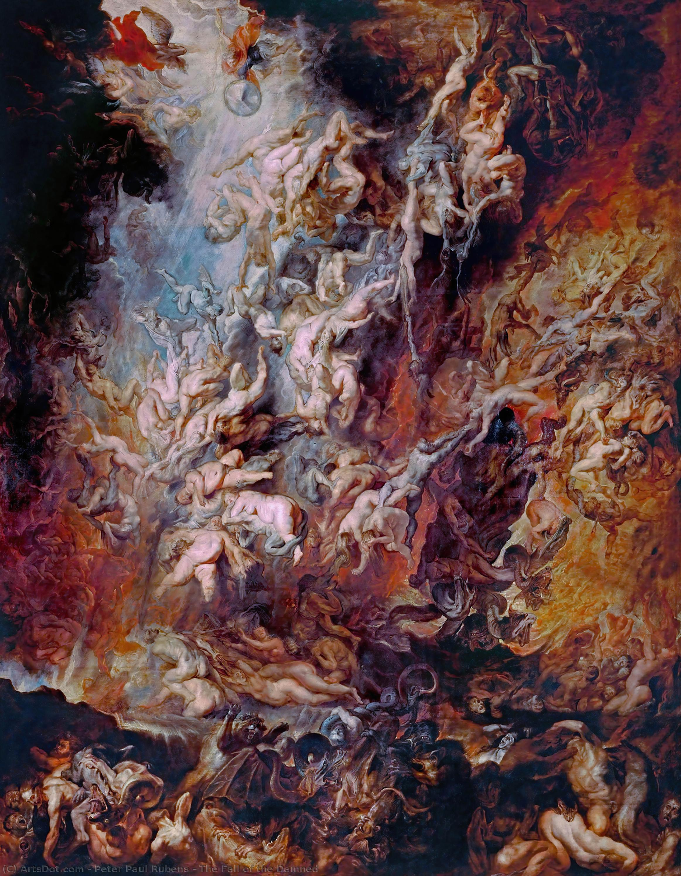 WikiOO.org - Encyclopedia of Fine Arts - Malba, Artwork Peter Paul Rubens - The Fall of the Damned