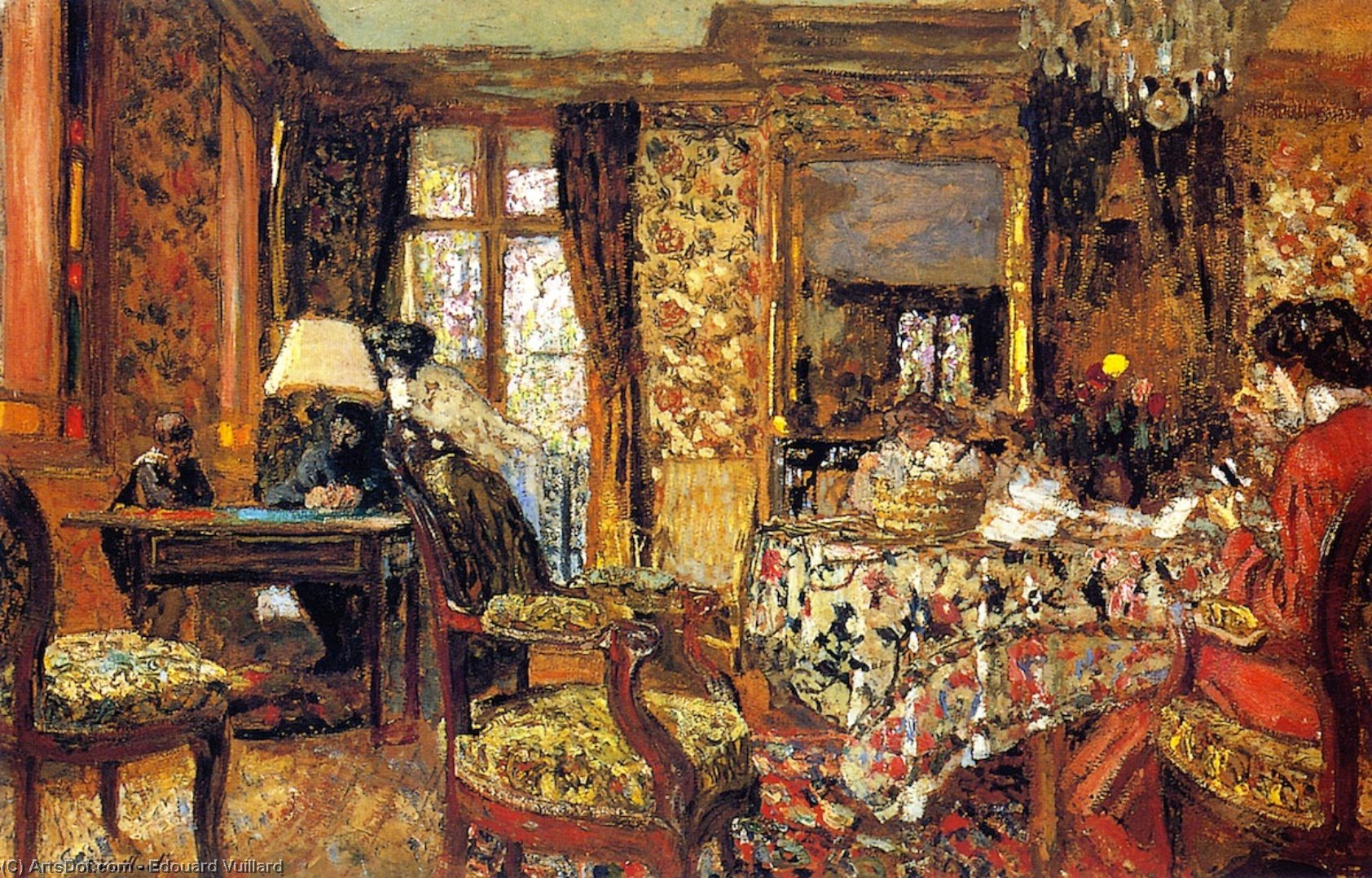 Wikioo.org - The Encyclopedia of Fine Arts - Painting, Artwork by Jean Edouard Vuillard - In the Room