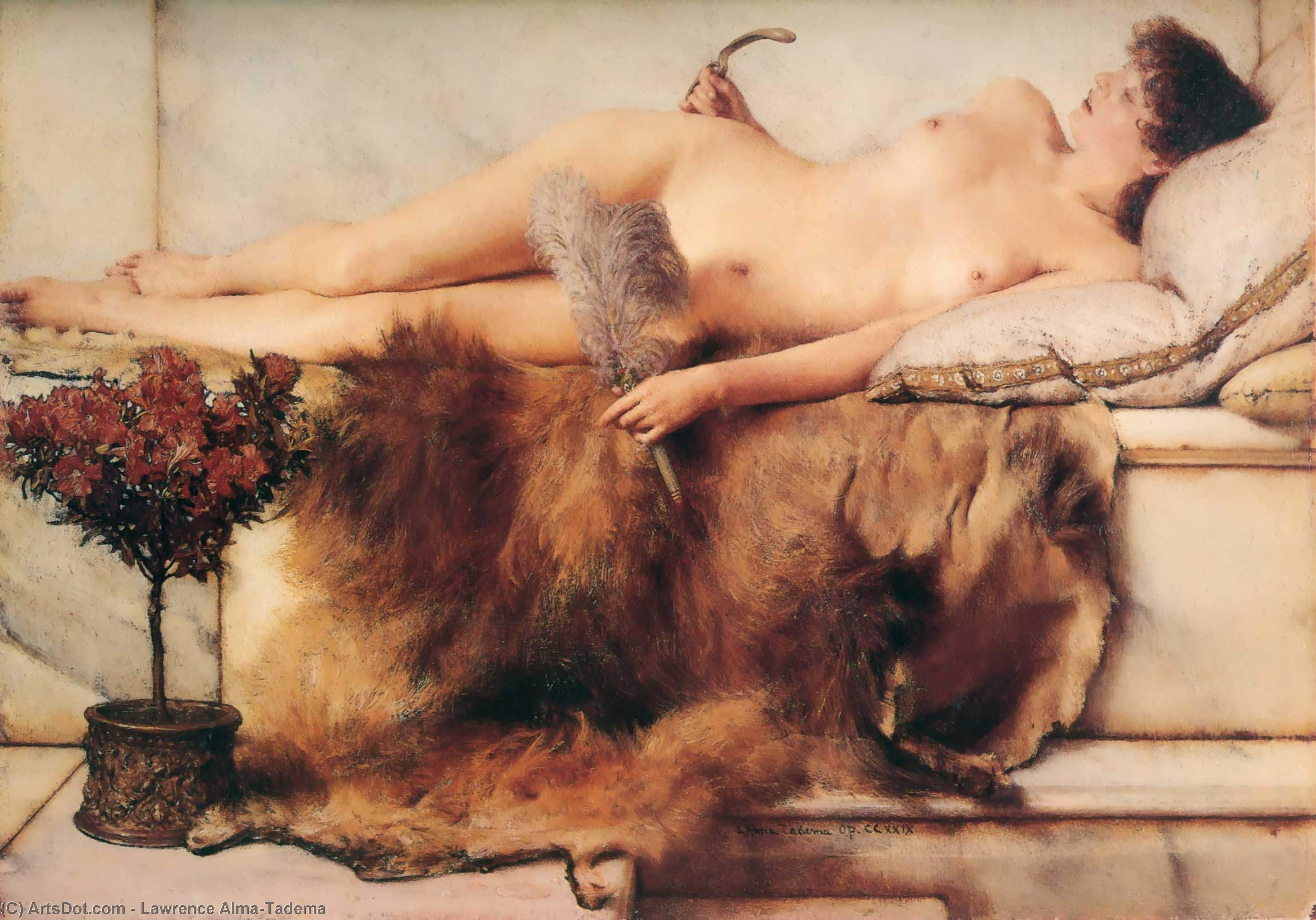Wikioo.org - The Encyclopedia of Fine Arts - Painting, Artwork by Lawrence Alma-Tadema - In the Tepidarium