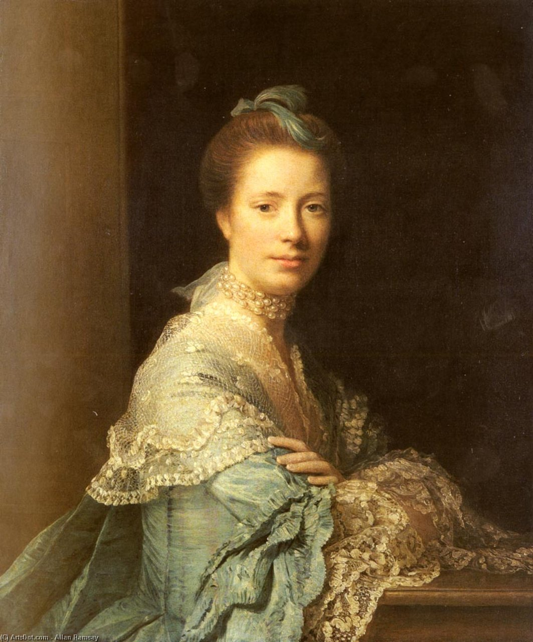 Wikioo.org - The Encyclopedia of Fine Arts - Painting, Artwork by Allan Ramsay - Portrait of Jean Abercromby, Mrs Morison