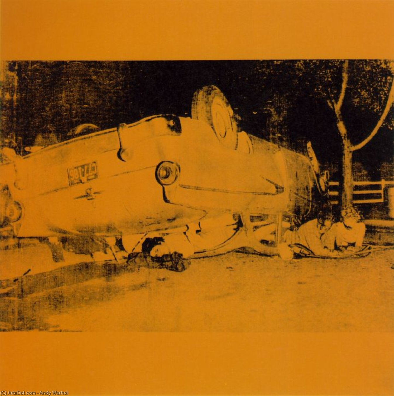 Wikioo.org - The Encyclopedia of Fine Arts - Painting, Artwork by Andy Warhol - Five deaths