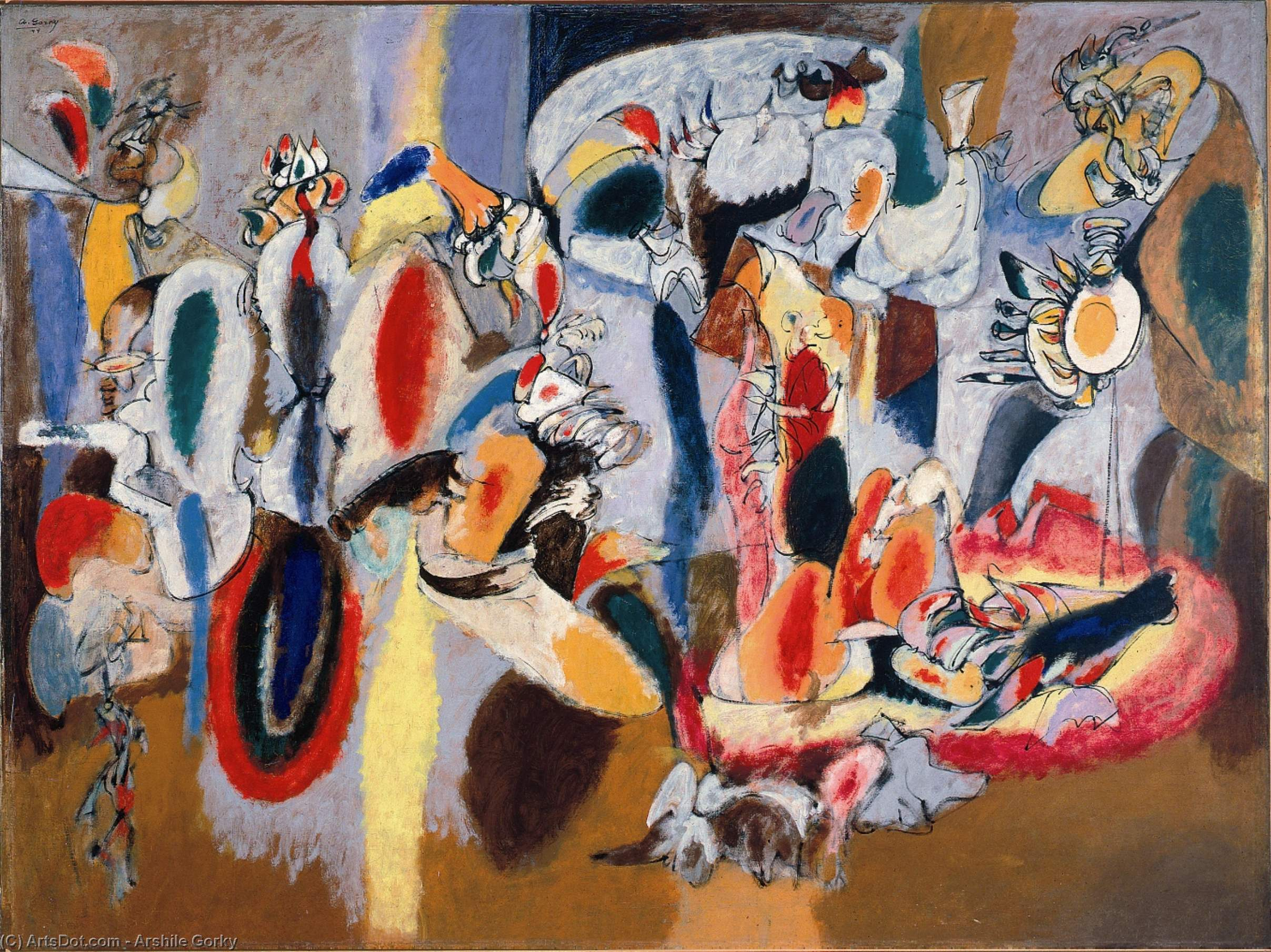 Wikioo.org - The Encyclopedia of Fine Arts - Painting, Artwork by Arshile Gorky - The Liver is the Cock's Comb