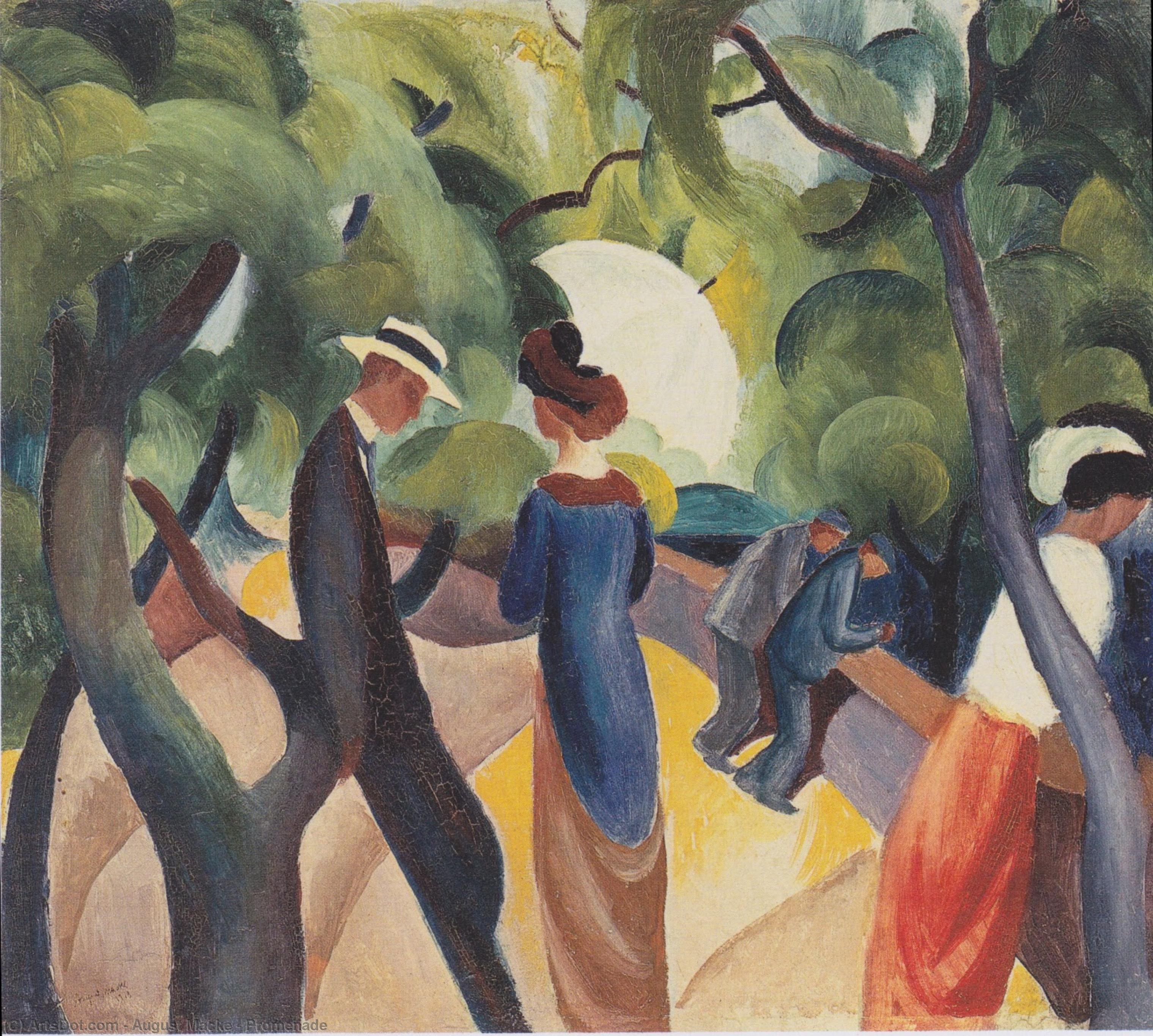 Wikioo.org - The Encyclopedia of Fine Arts - Painting, Artwork by August Macke - Promenade