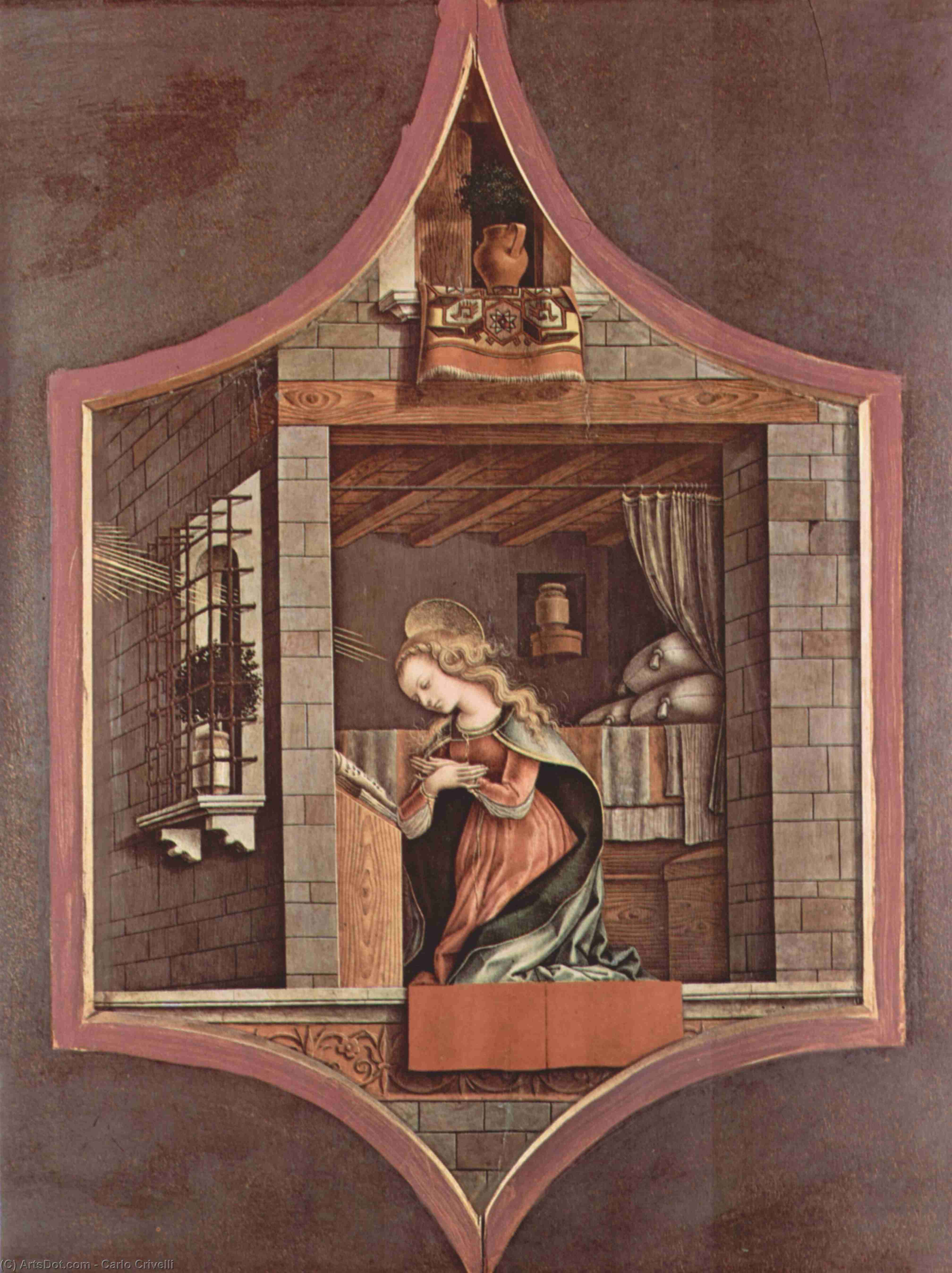 Wikioo.org - The Encyclopedia of Fine Arts - Painting, Artwork by Carlo Crivelli - Virgin proclamation